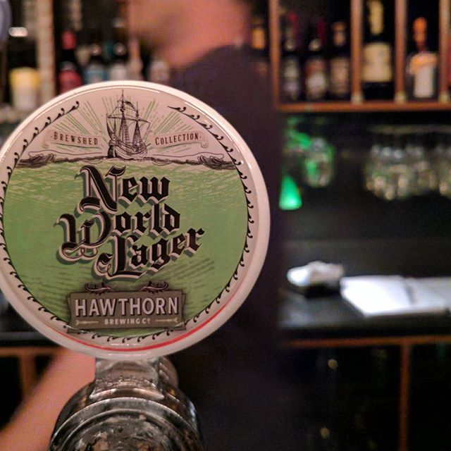 Just tapped! Hawthorn New World Lager for a limited time only.