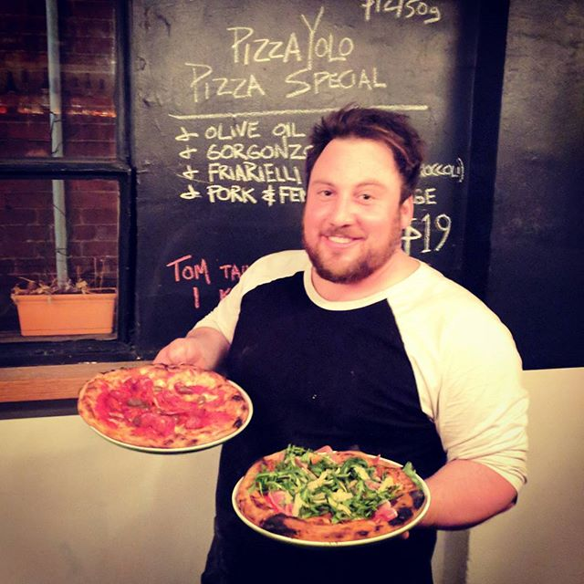 Special appearance by this handsome fella @pizza_yolo in the kitchen tonight! Can also concrete.