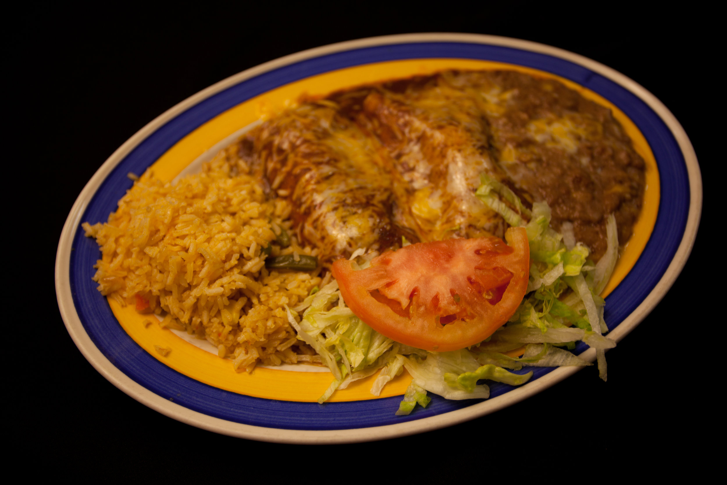 Enchilada Roja - The Roja / Red salsa Enchilada Lunch or Dinner is on special.