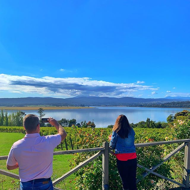 Our hotel guests getting a special @tamartours experience of the @tamarvalleywineroute with a glass of our favourite @ninthisland wine on the deck of @strathlynn 🍷  Strathlynn is a beautiful wedding venue + function centre partnered with Rosevears Hotel. 📞6394 4074 📩info@strathlynn.com.au  #TamarValley #Tasmania #tamartours #wine #rosevearshotel #australia #seeaustralia #travel #tour #winetour #discovertasmania  #redwine #tourist #sparklingwine #winetasting #vineyardvines #explore #vacation . . 📸 @ren_watson