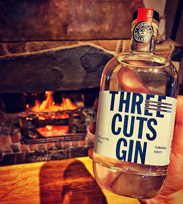 Good gin 🍸 Good fire🔥 Good night! 🌛  @turnerstillhouse gin now available at Rosevears Hotel! . . . . . #gin #tasmania #spirits #gingin #america #tamarvalley #australia #seeaustralia #travel #tour #winetour #discovertasmania  #redwine #tourist #sparklingwine #winetasting #vineyardvines #explore #vacation