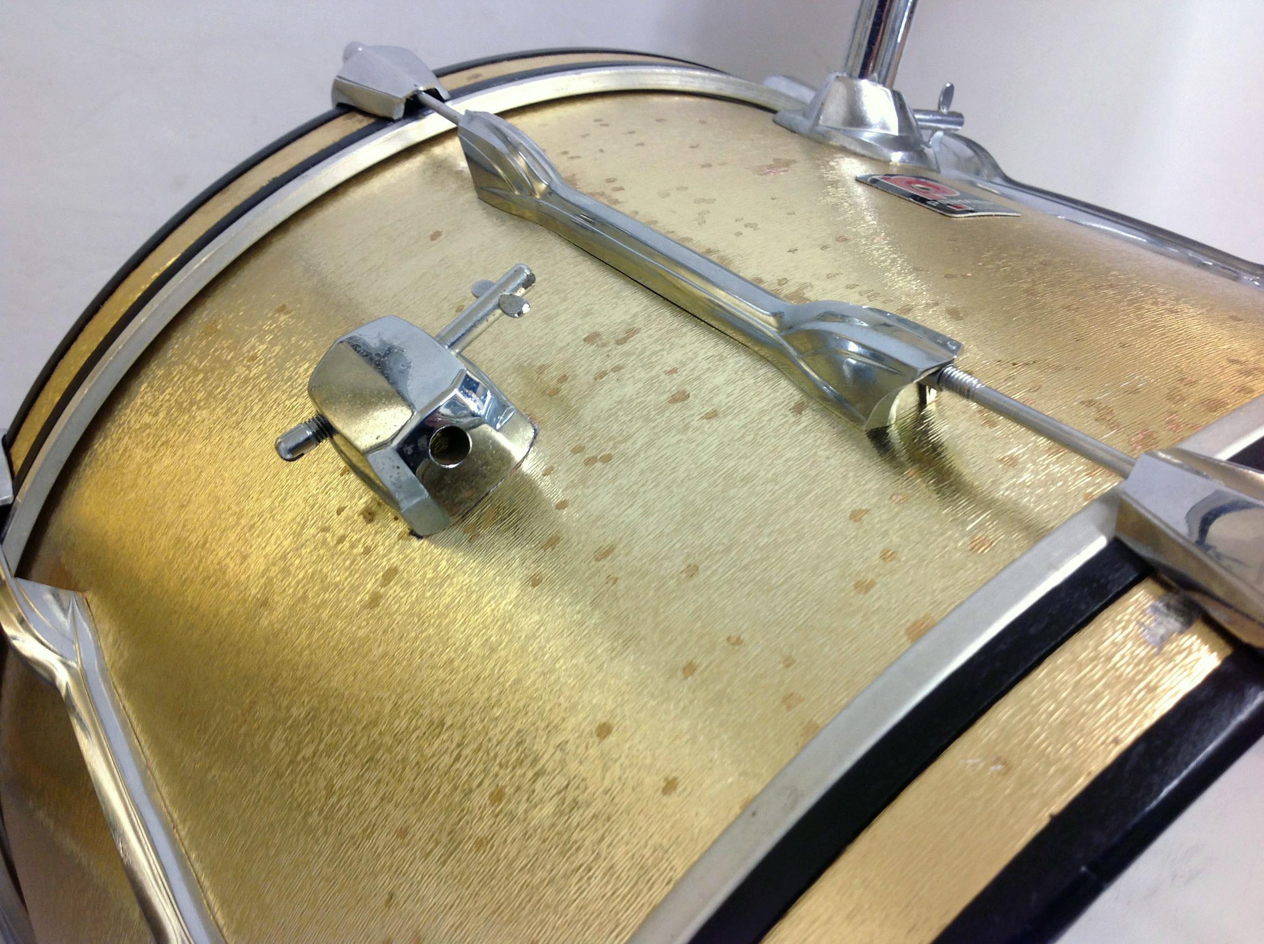 Golden sun bass drum with cymbal holder.jpg