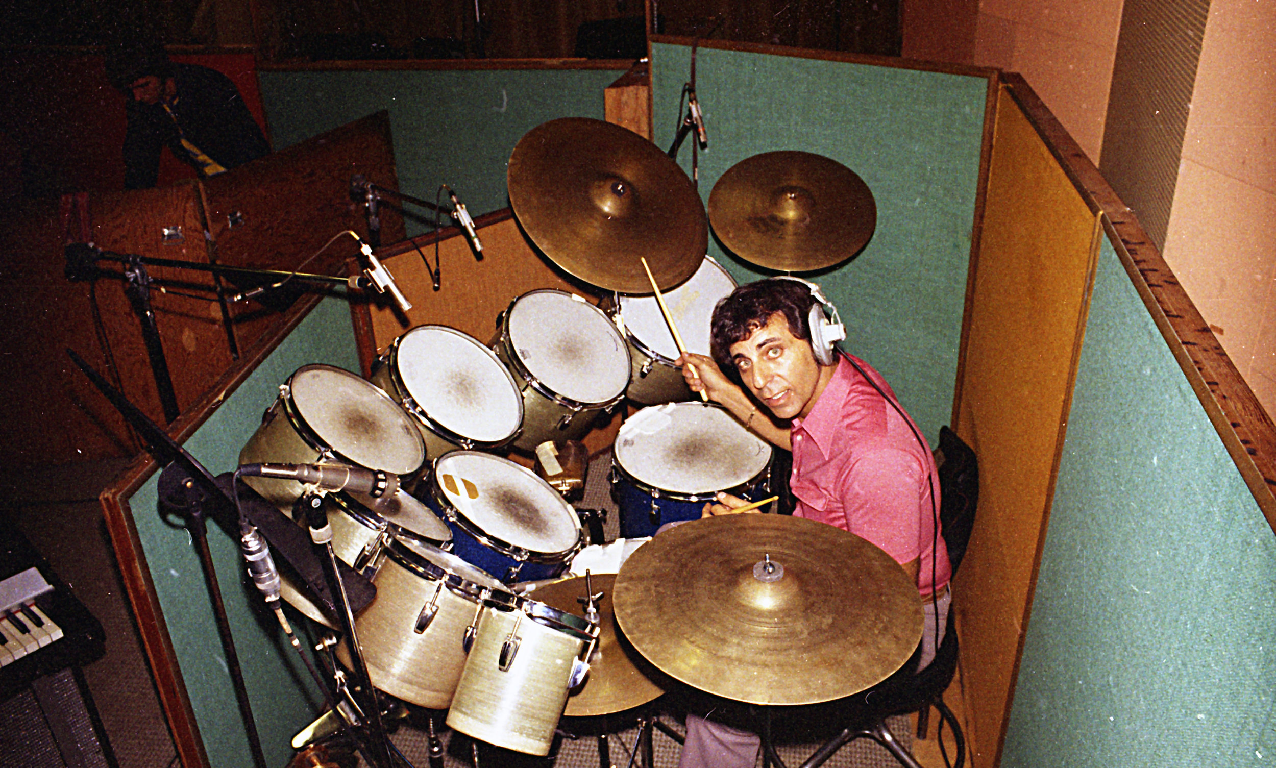 "Hal Blaine, playing his ""Monster Set""."