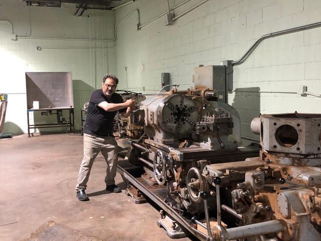 Sam Bacco driving the Craviotto Willy Wonka machine.