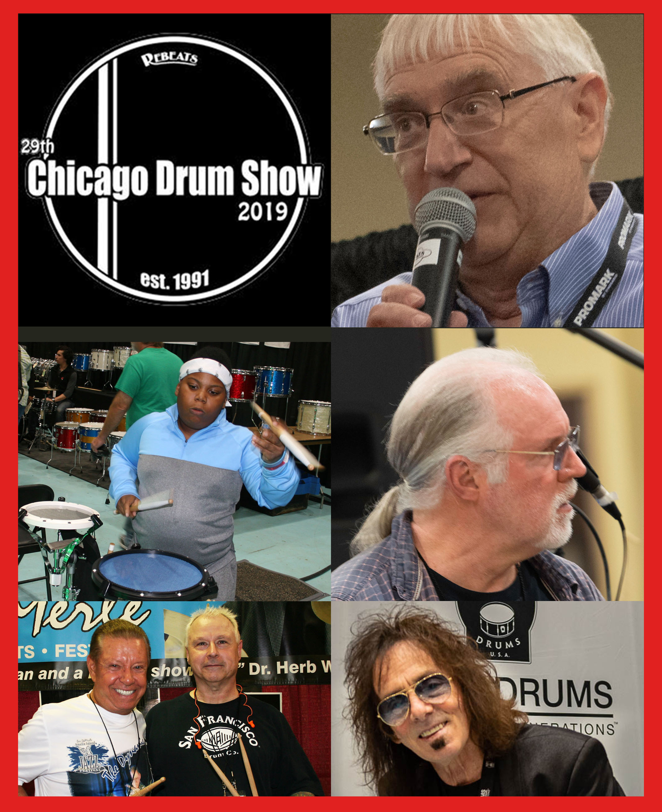 Now celebrating its 29th year, the Chicago Drum Show is the world's largest and longest running drumming event in the world. It features over 30,000 square feet of new and used custom drums and cymbals of all makes and models.