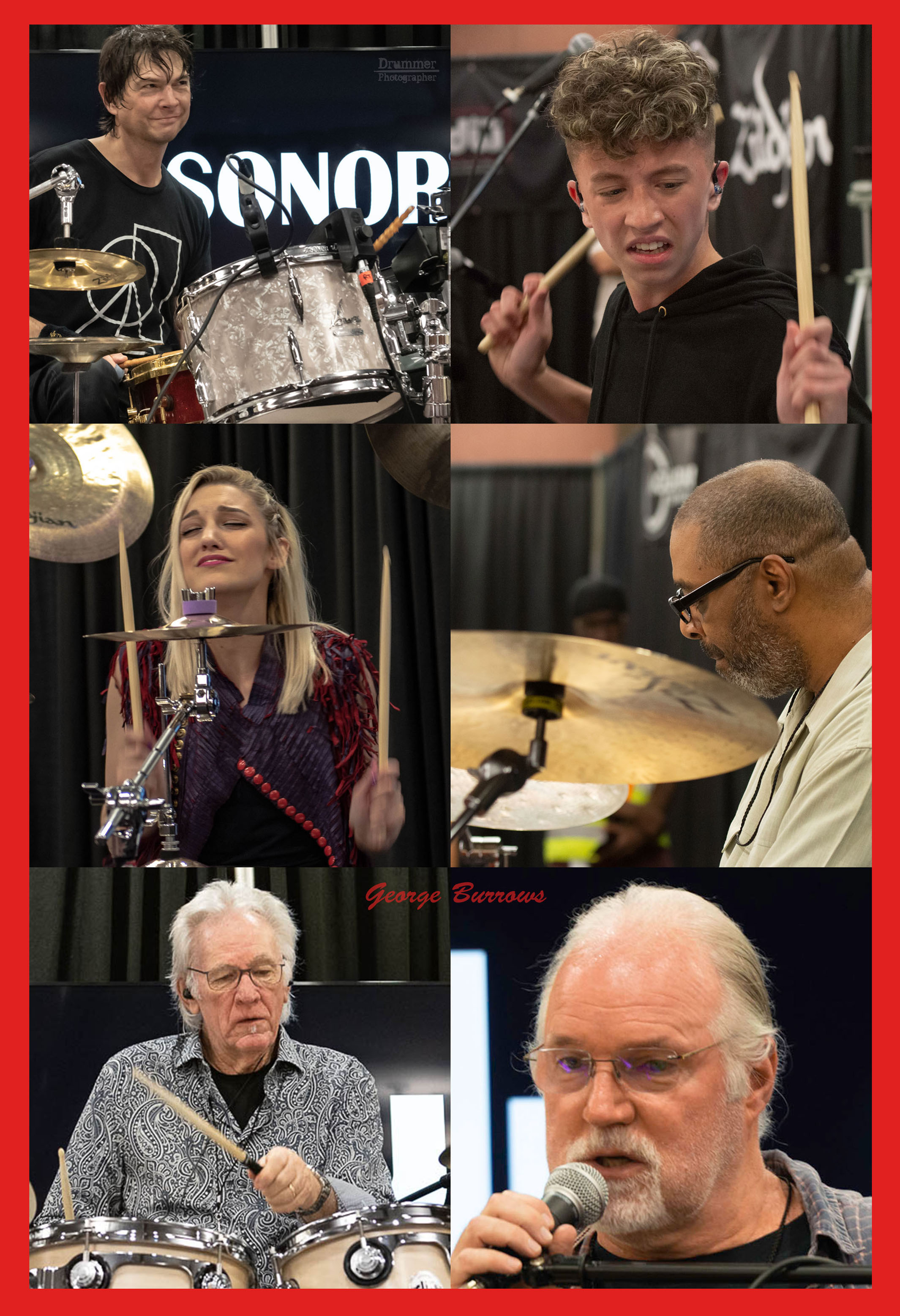 The two day clinic and master class roster - Paul Wertico, Denny Seiwell, Carl Allen, Perry Wilson, Glenn Kotche, and Jake D