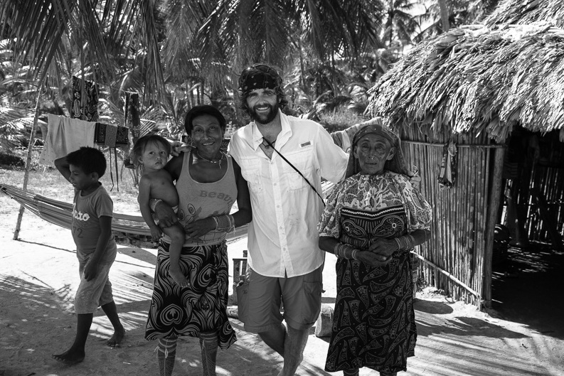 Visting with Kuna natives in the San Blas Islands during a shoot in the Caribbean. (2015) Photo: Scott Hardesty www.scotthardestymedia.com
