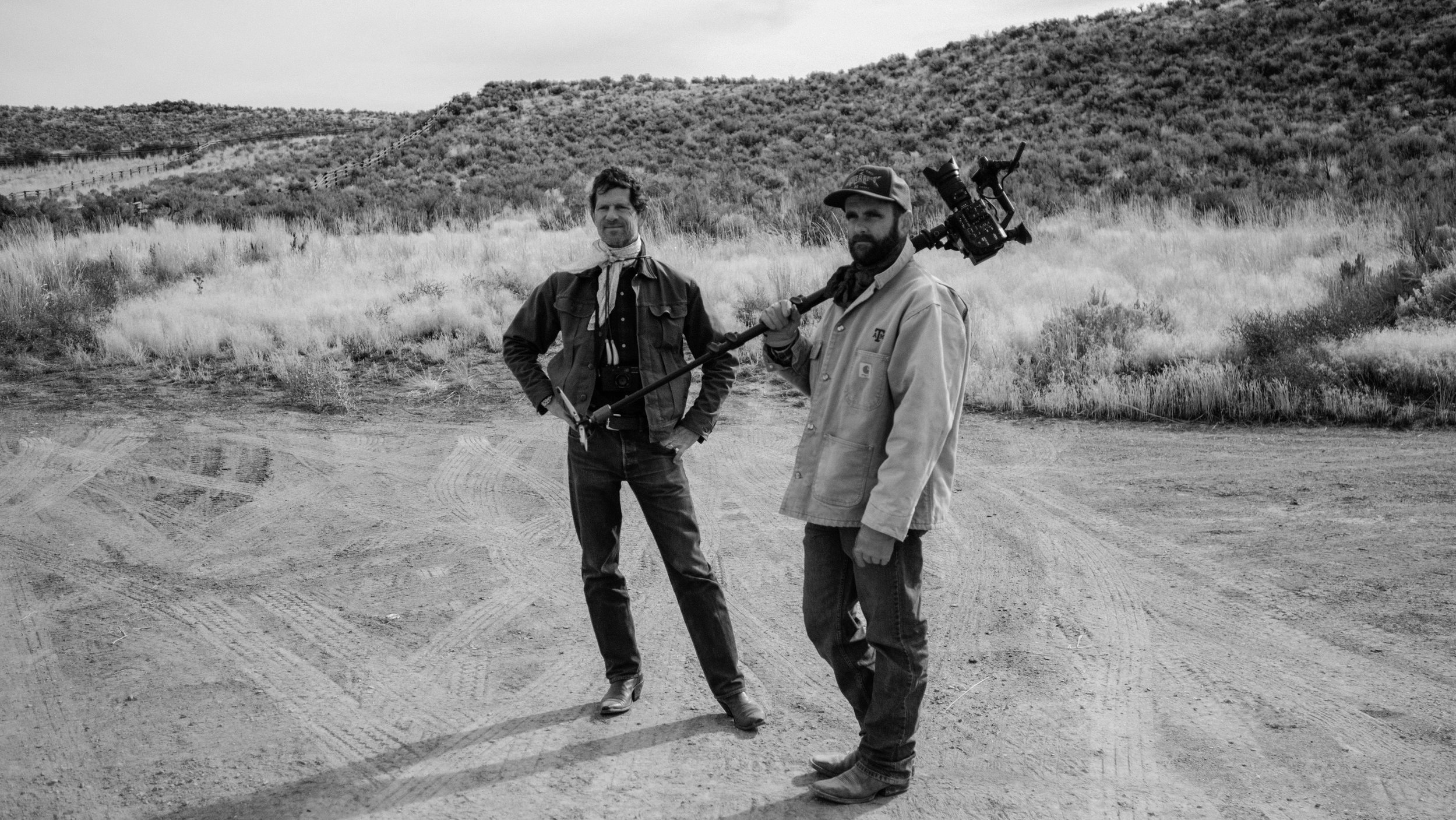 "Deciding a plan with co-director John Langmore while filming ""Cowboys: A Documentary Portrait"" in Tuscarora, Nevada. (2016) Photo: Tito West (www.titowest.com)"