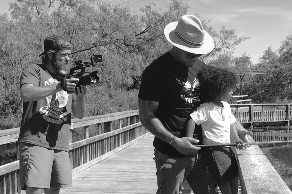 Filming a travel tourism project for Texas Parks and Wildlife. (2016)