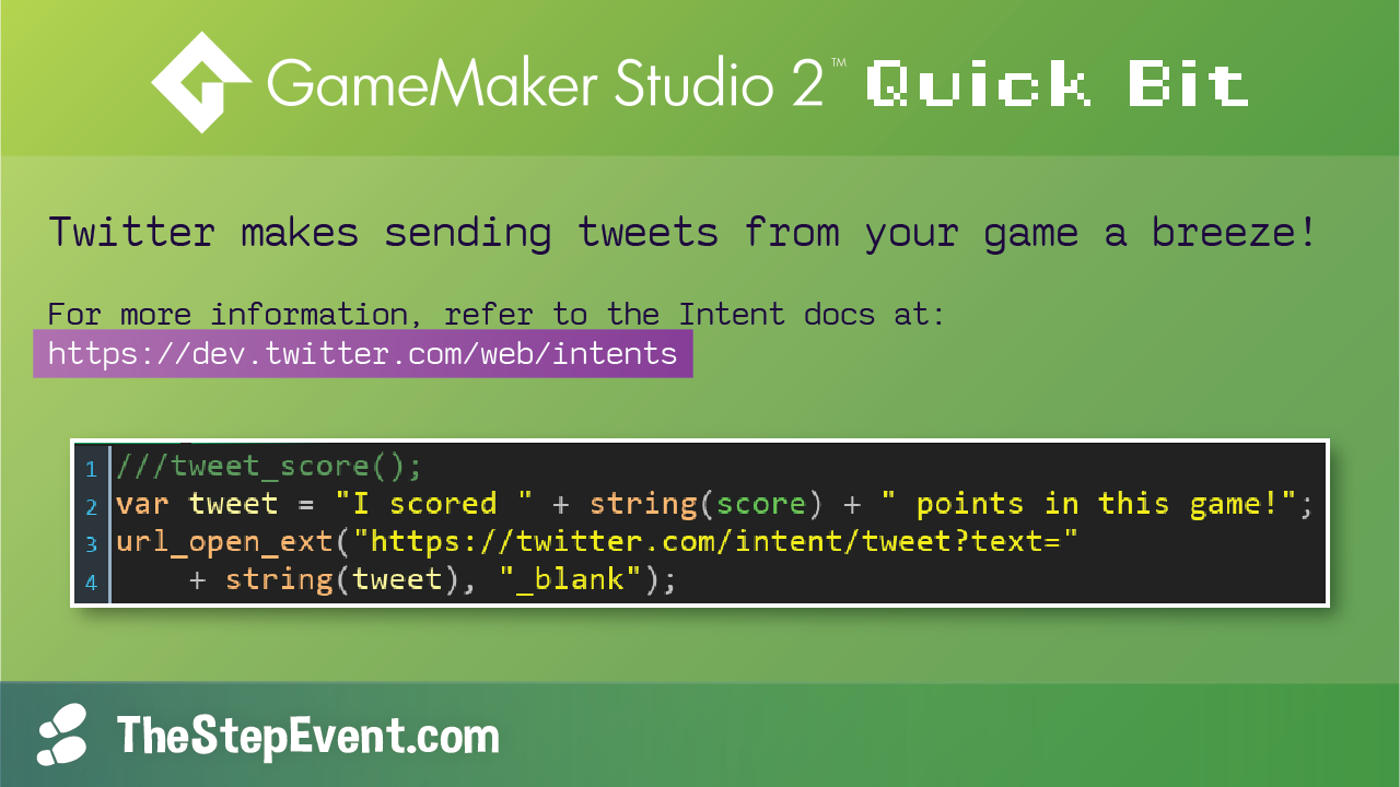 Twitter makes sending tweets from your game a breeze!