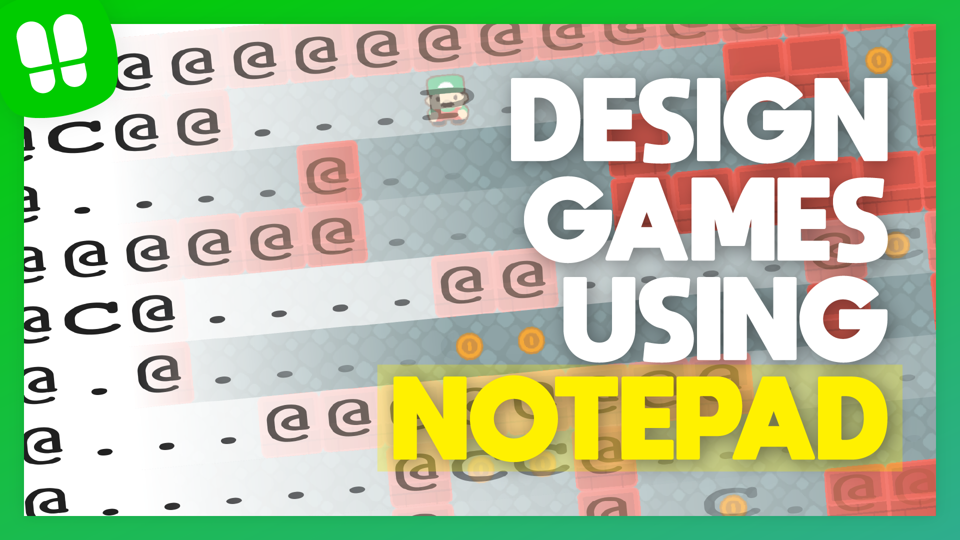 Designing Levels using Notepad | GameMaker Studio 2 ASCII level generation tutorial