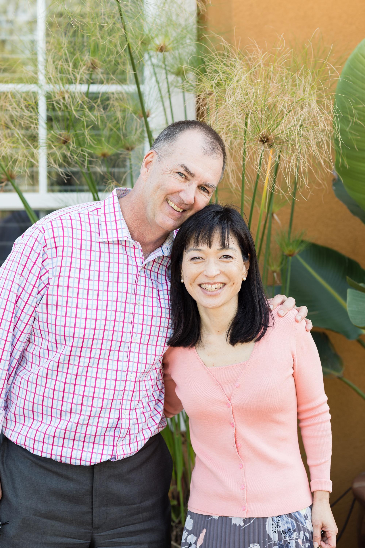 Proud parents, John and Yumi.