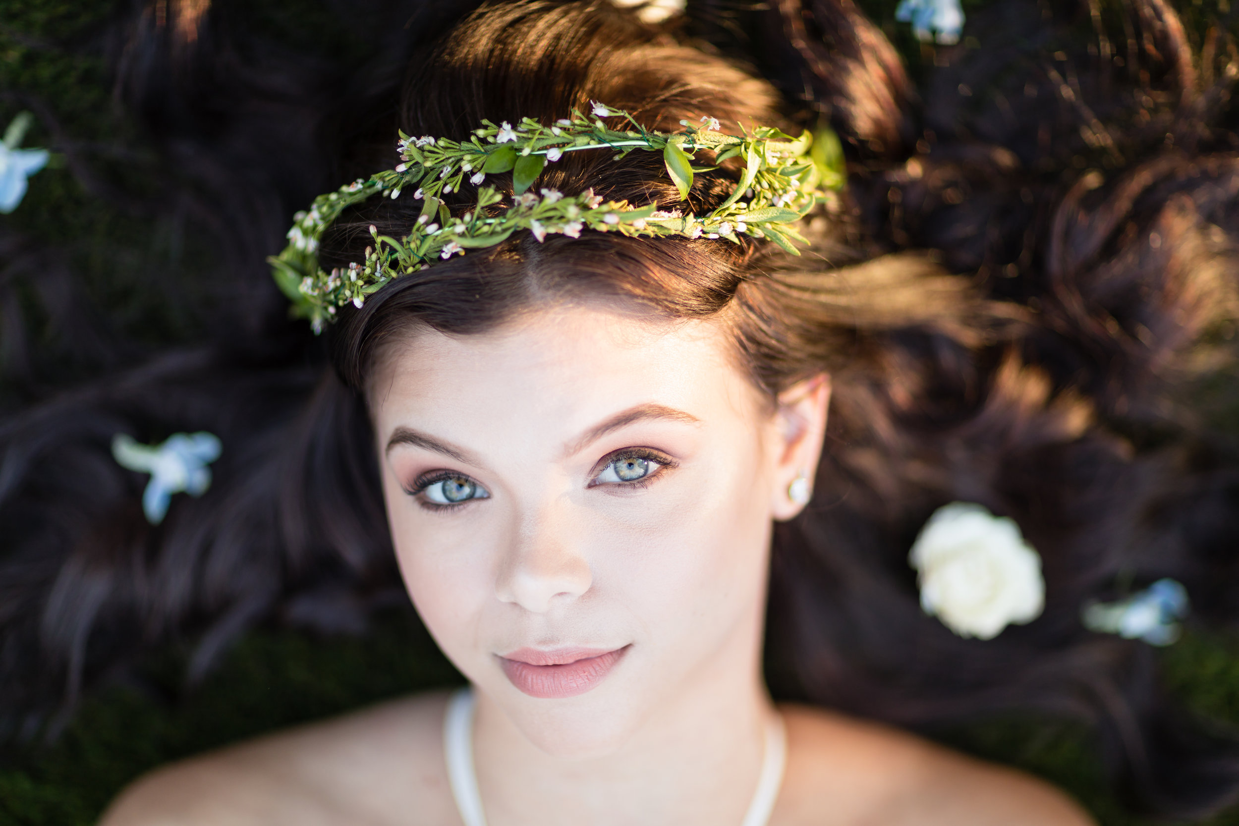 Model:  Makenna Elise Harris   Makeup Artist:  Maria R Shaw of MRS Artistry    Florals:  Laura Williams of PoppyHill Flowers   Hair Stylist:  Laura Jimenez of Lush Core Glamour    Dresses by  Elison Road  and  Lulus