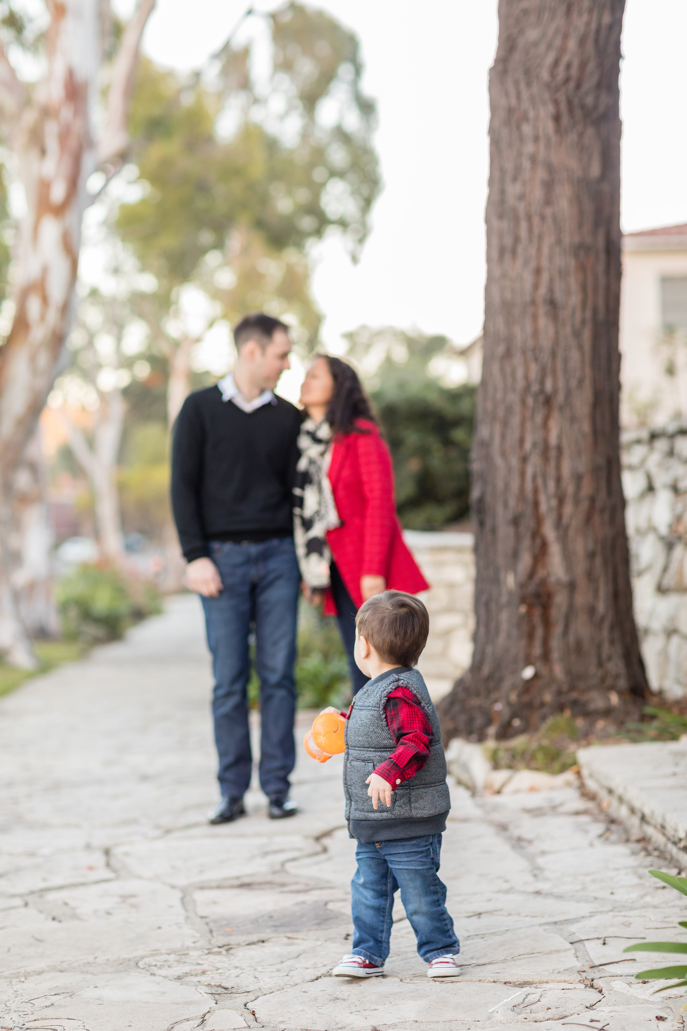 Son looks back at parents during Family Photo Session.jpg