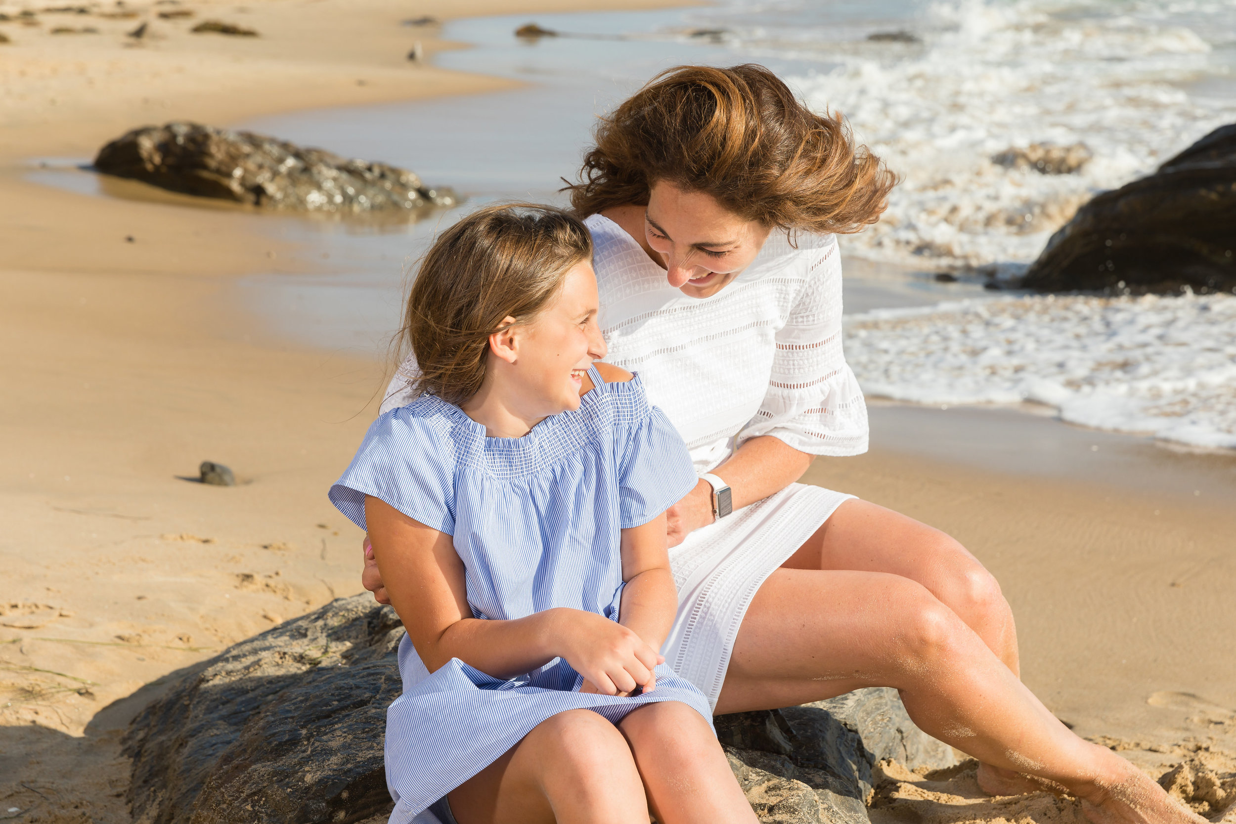 Mother Daughter Laughing on the Beach Family Photo Session.jpg