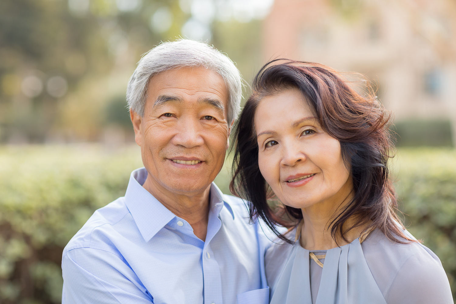 Husband and wife portrait at UCLA