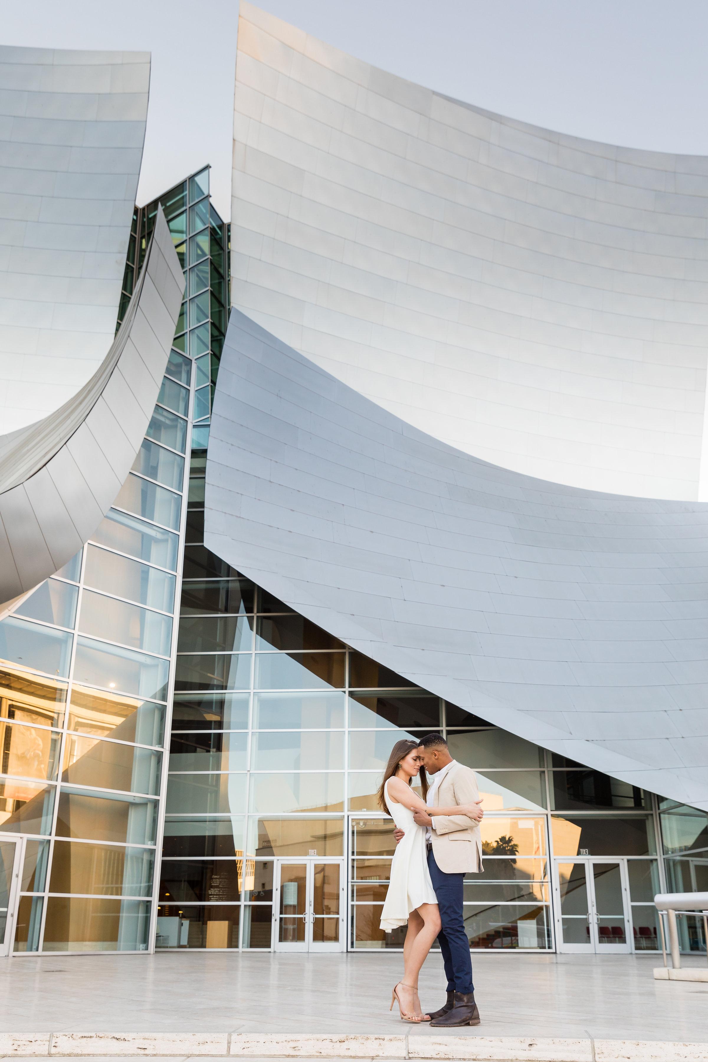 Engagement Photo Shoot at Walt Disney Concert Hall in LA.jpg