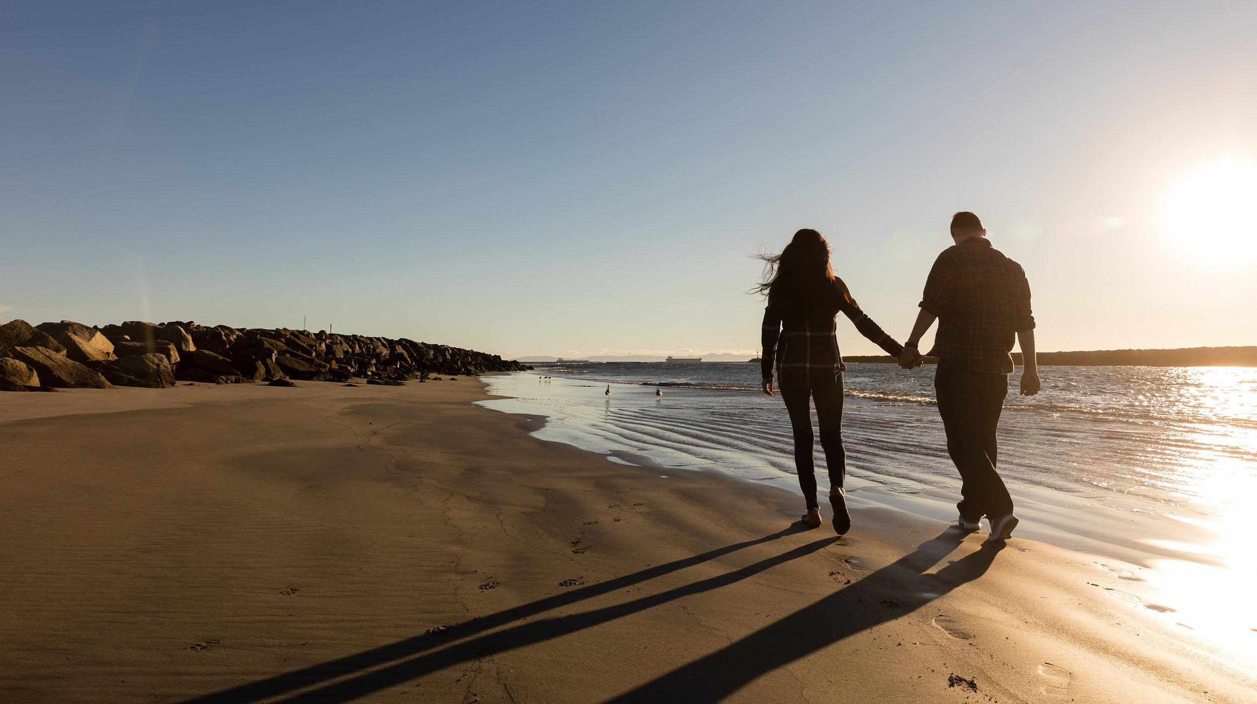 Beach Engagement Photo Session at Sunset.jpg
