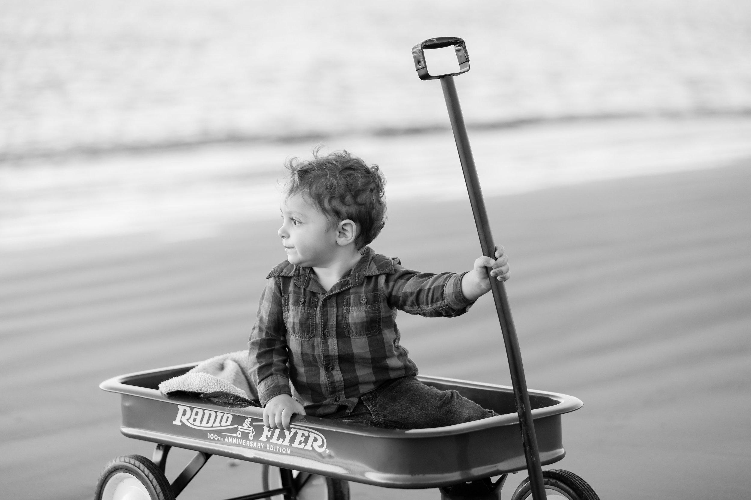 kiddo radio flyer beach boy seal beach portraits.jpg