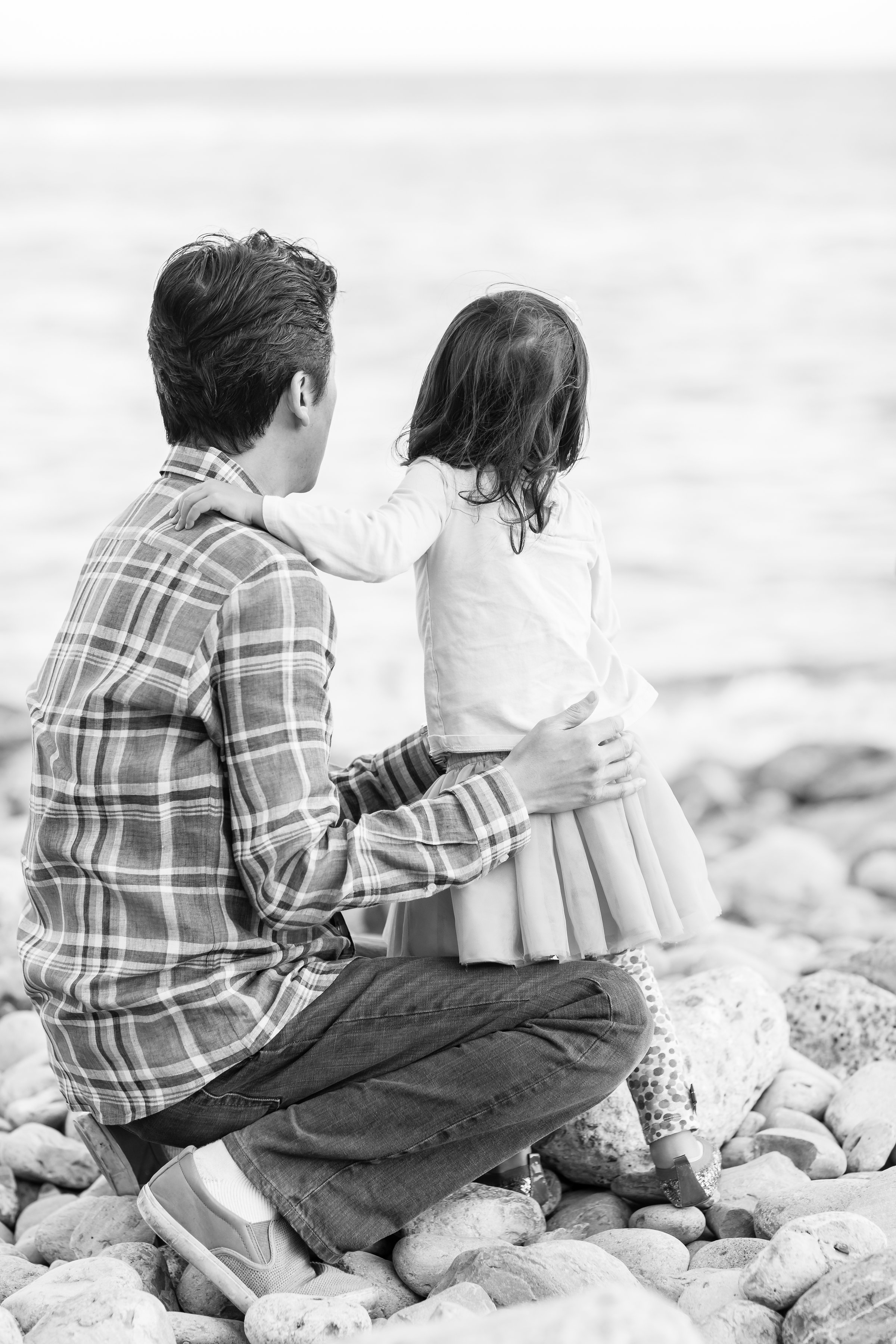 Classic black and white portrait of father and daughter.jpg