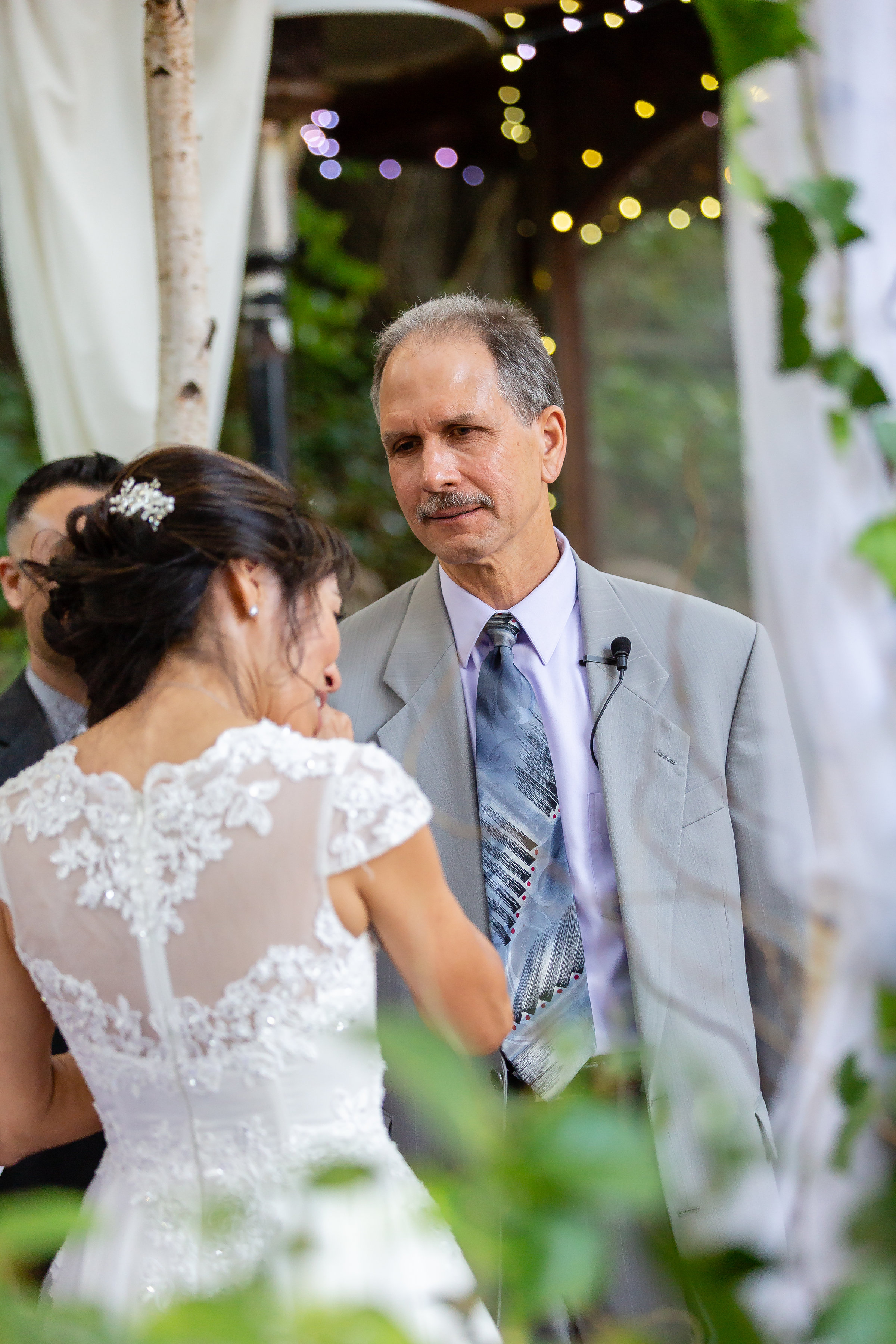 Happy Tears at Topanga Wedding Ceremony