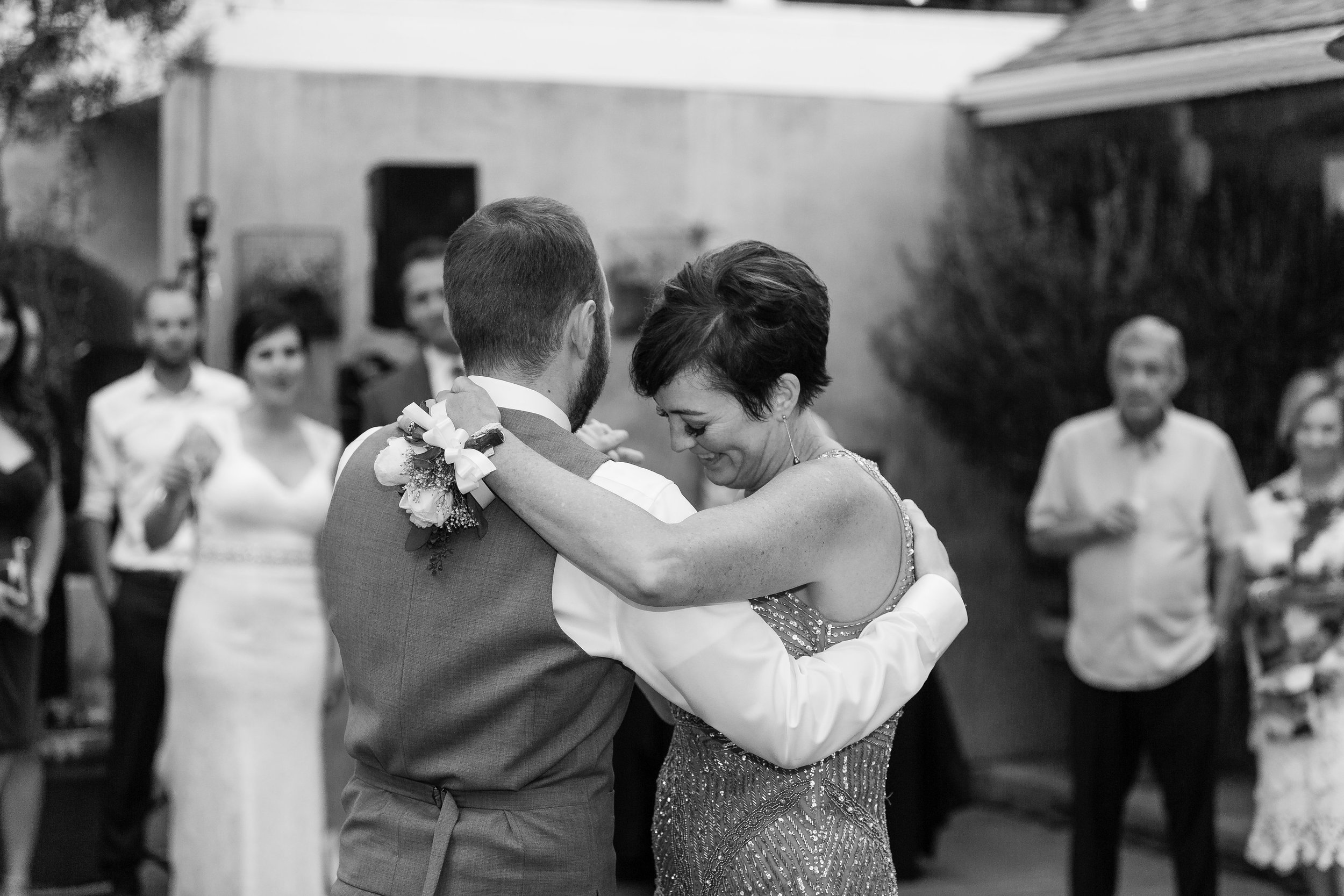 Photo of Mother Son Dance at Wedding Reception.jpg