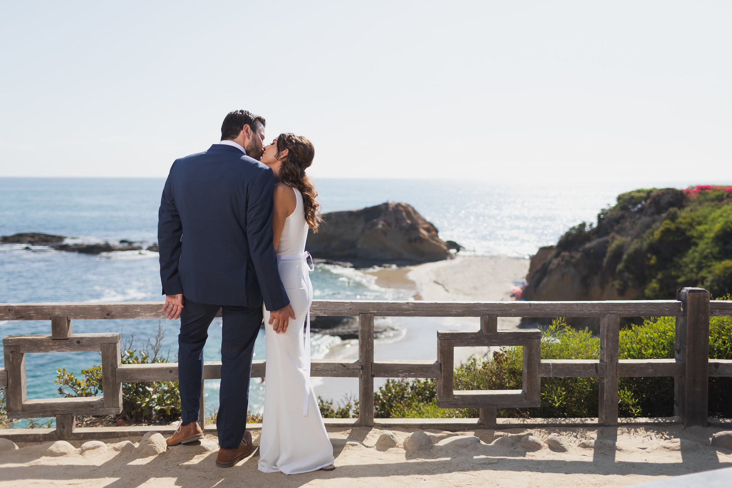Romantic Wedding Kiss in Laguna Beach.jpg