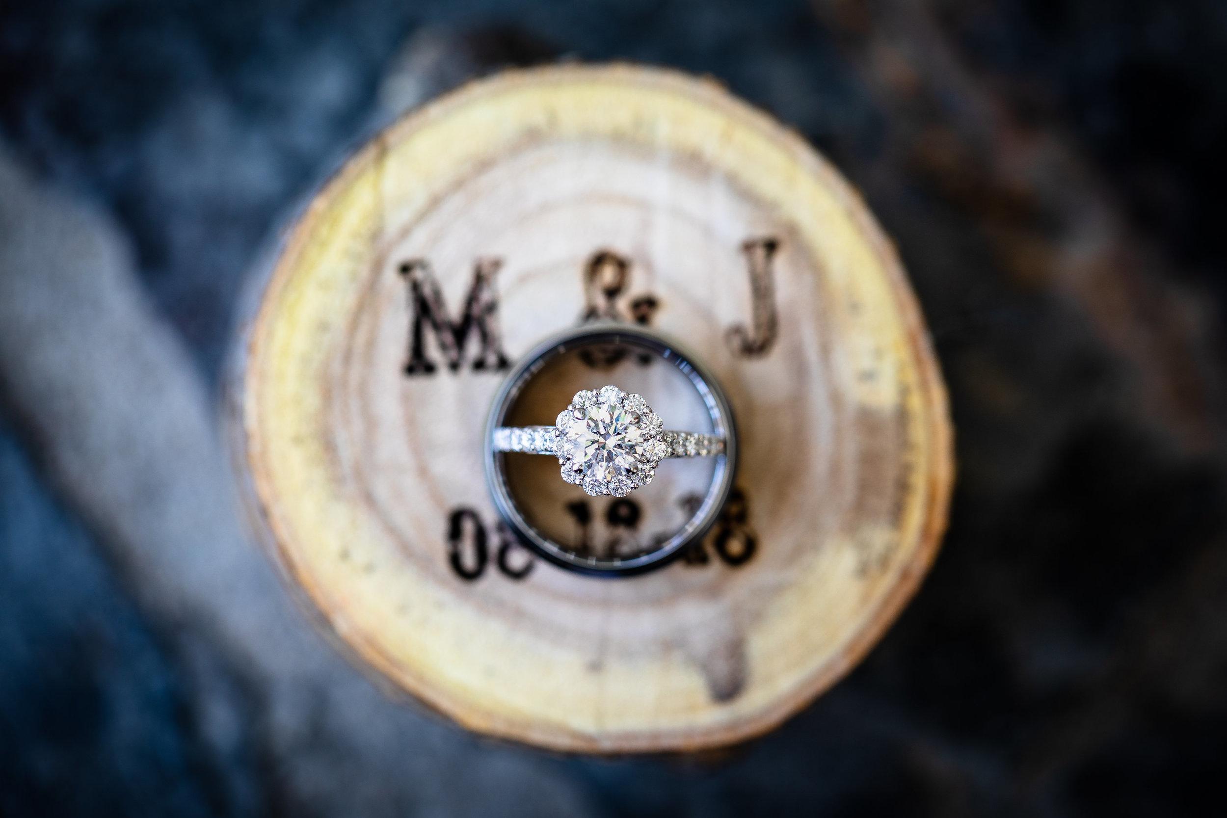 Beautiful Rustic Wedding Ring Box Photo