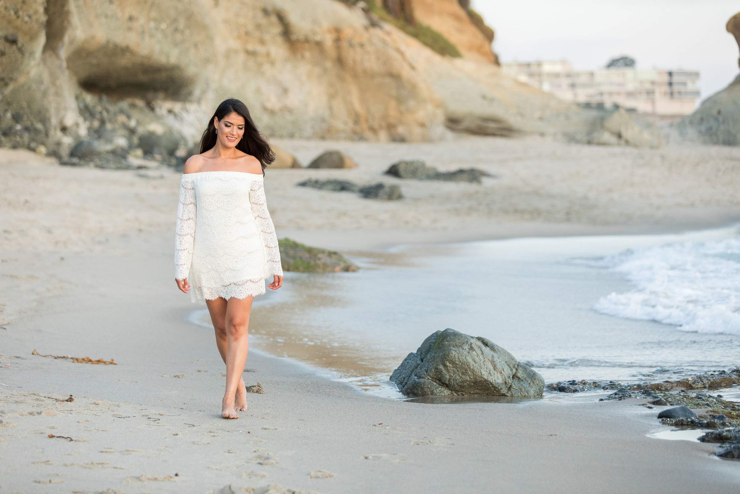 short white dress for beach engagement session.jpg