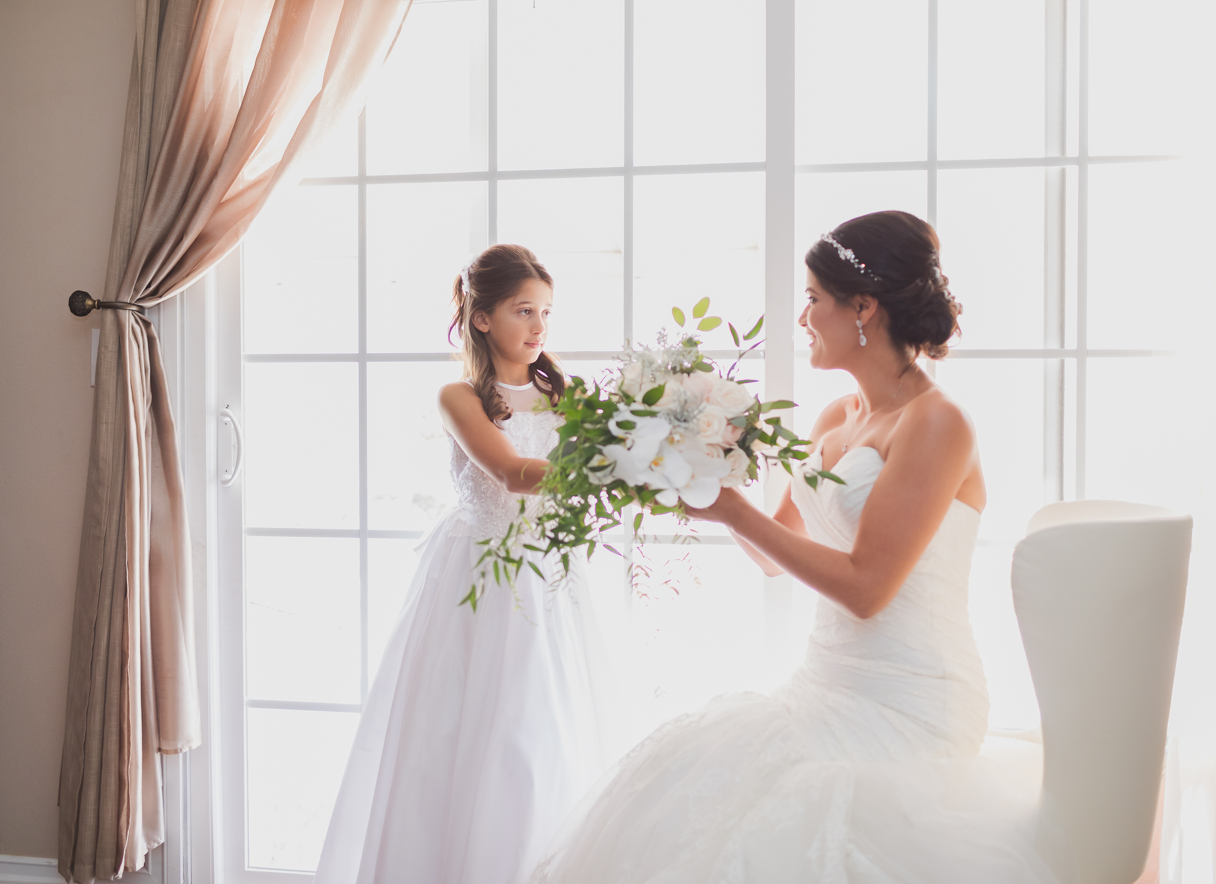 Mother Daughter Getting Ready by the Window Wedding Photography Inspiration.jpg