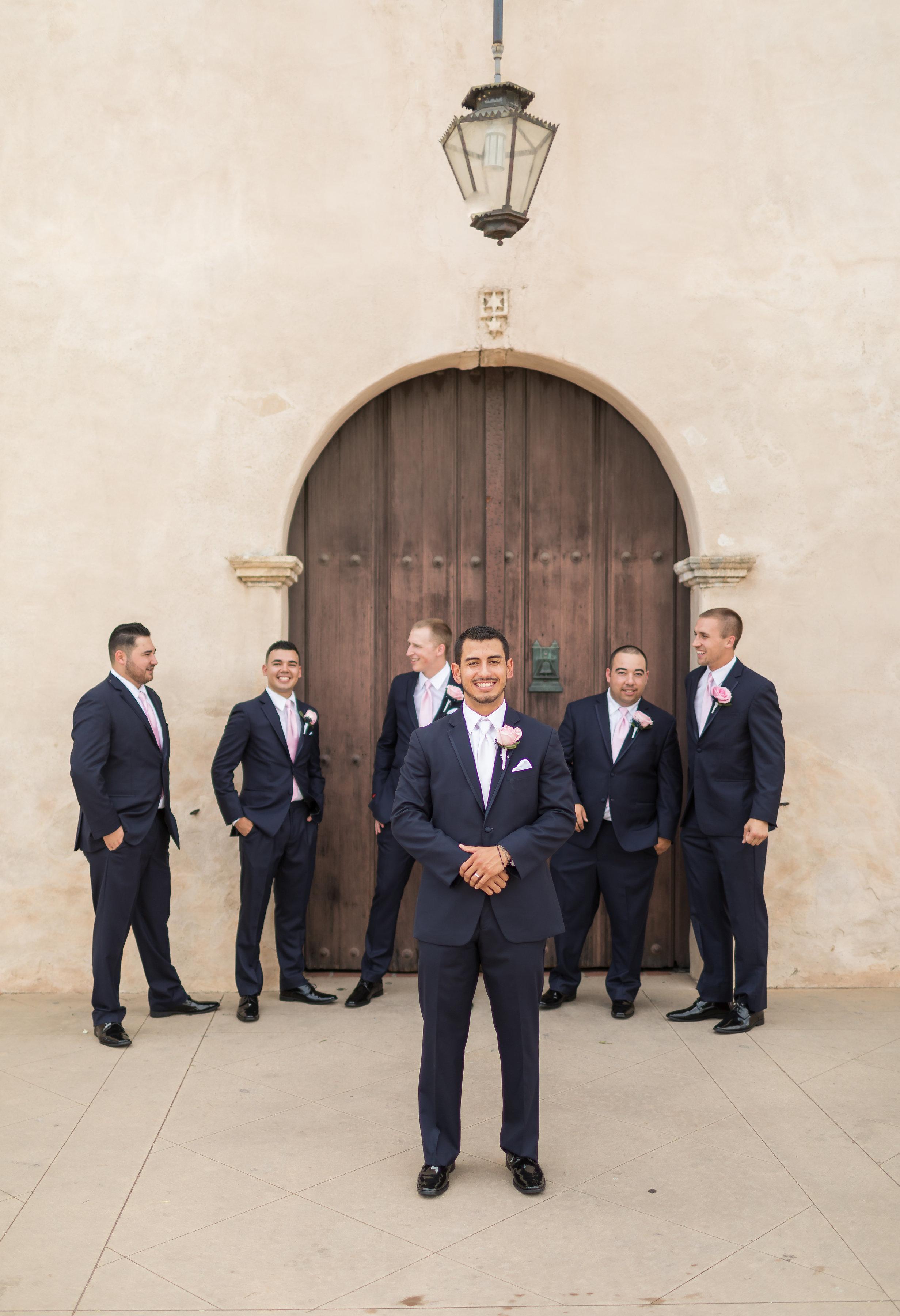 ! Groom and Groomsmen Photo at San Gabriel Mission.jpg