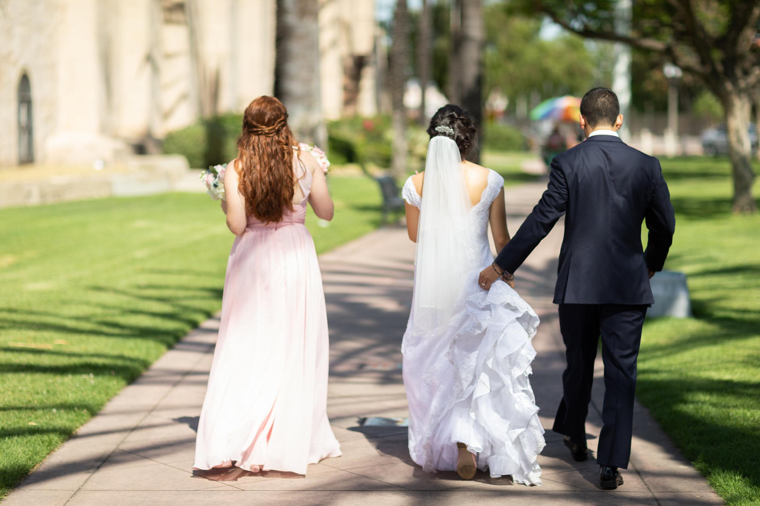 ! Bride and Groom walking toward forever.jpg
