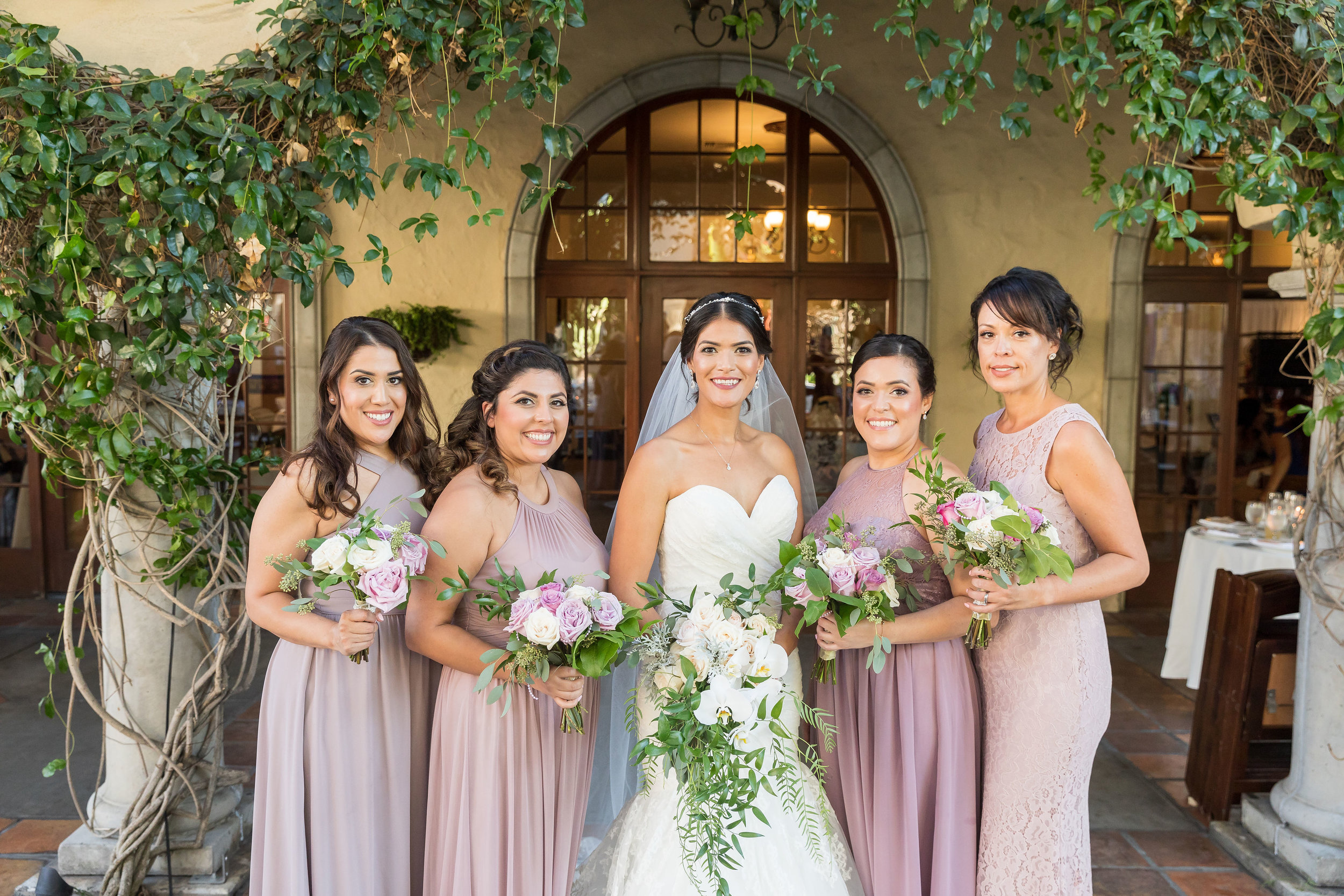 ! Bride with Bridesmaids at Green Parrot Villa.jpg