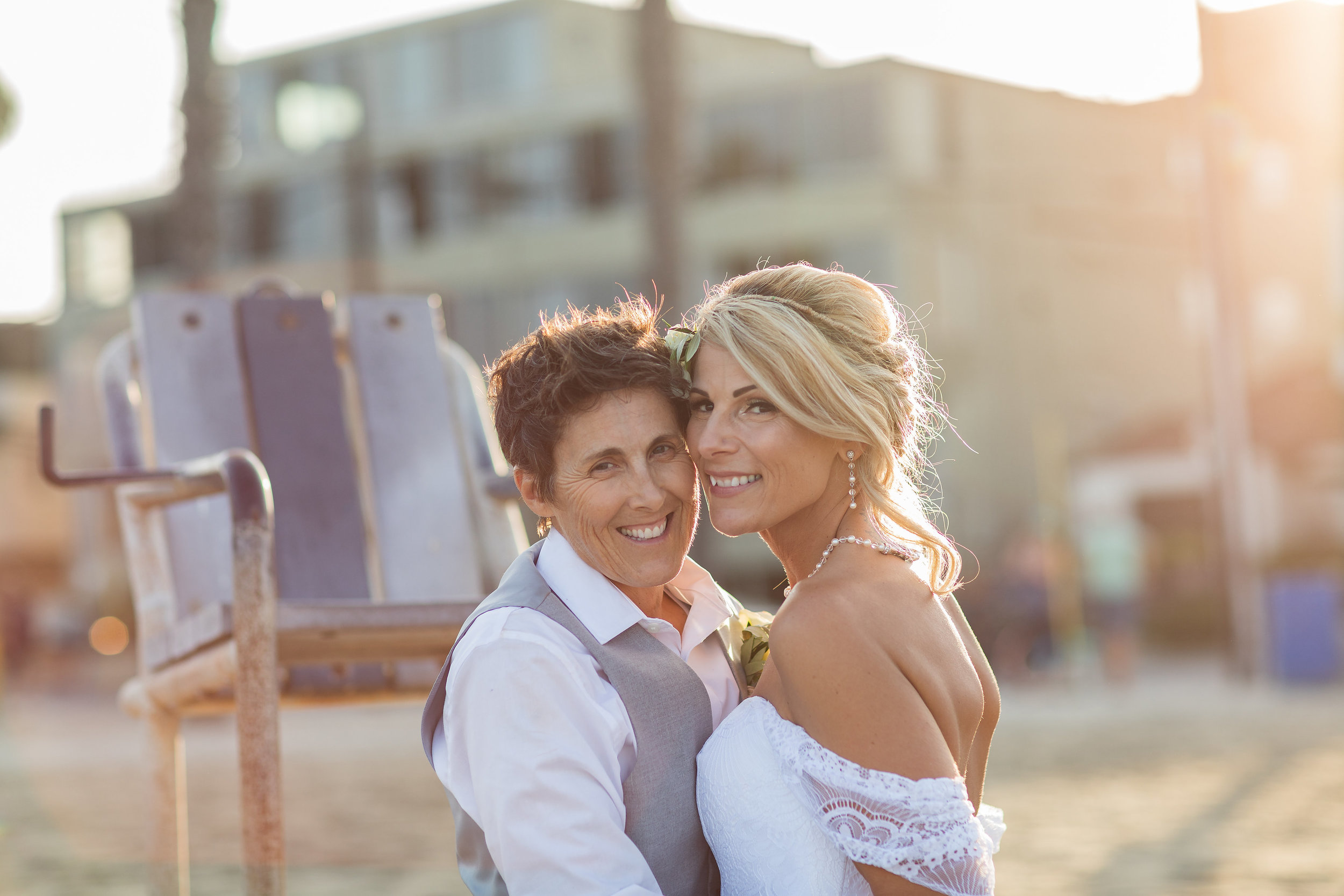 Beach Wedding Portraits with Sun Flare.jpg