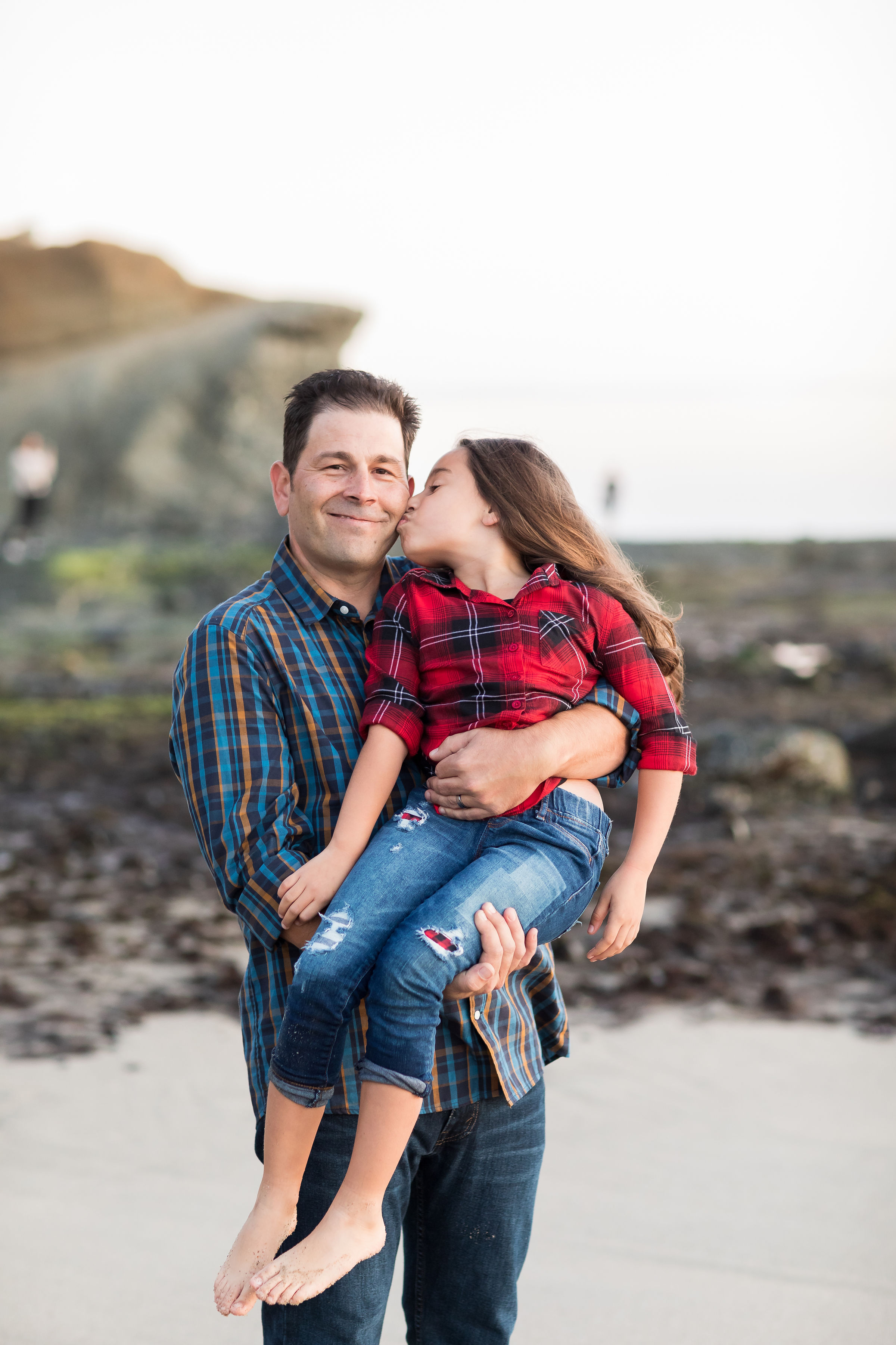 ! Father Daughter Lifestyle Beach Portraits Best OC Family Photographer.jpg