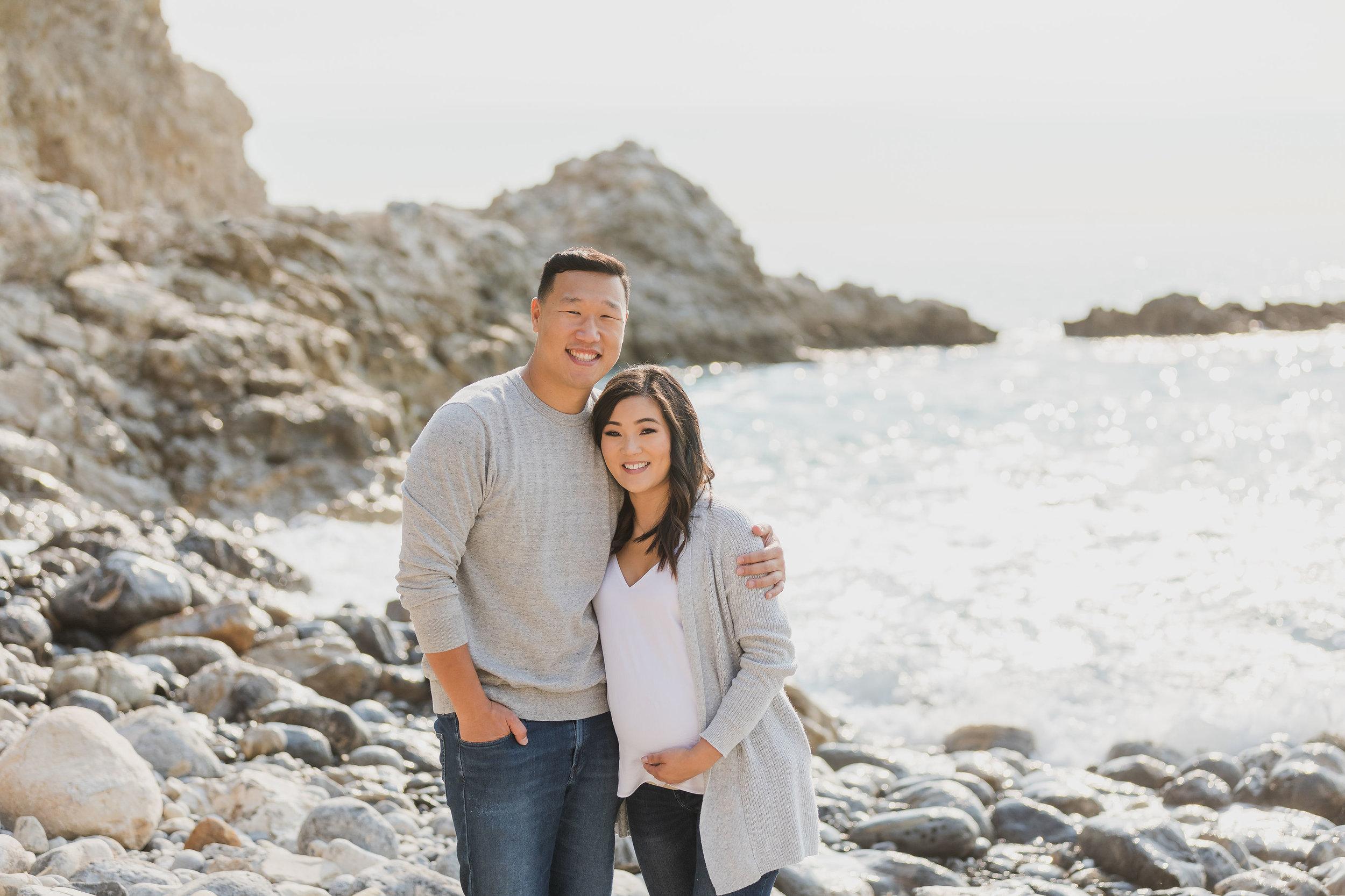 ! Husband and Wife Materity LA Beach Photo.jpg
