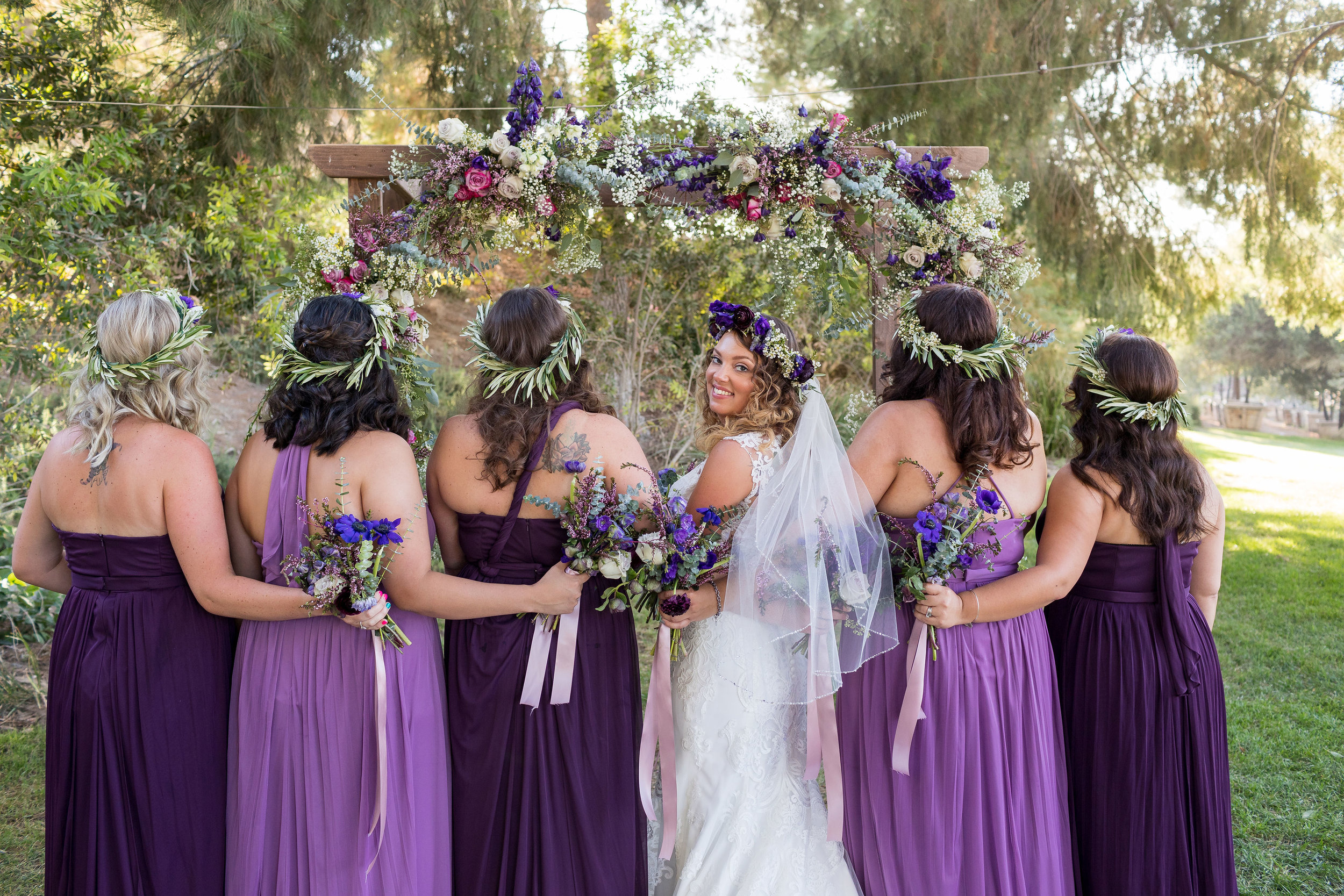Bride and Bridesmaids Portraits LA Photographer.jpg