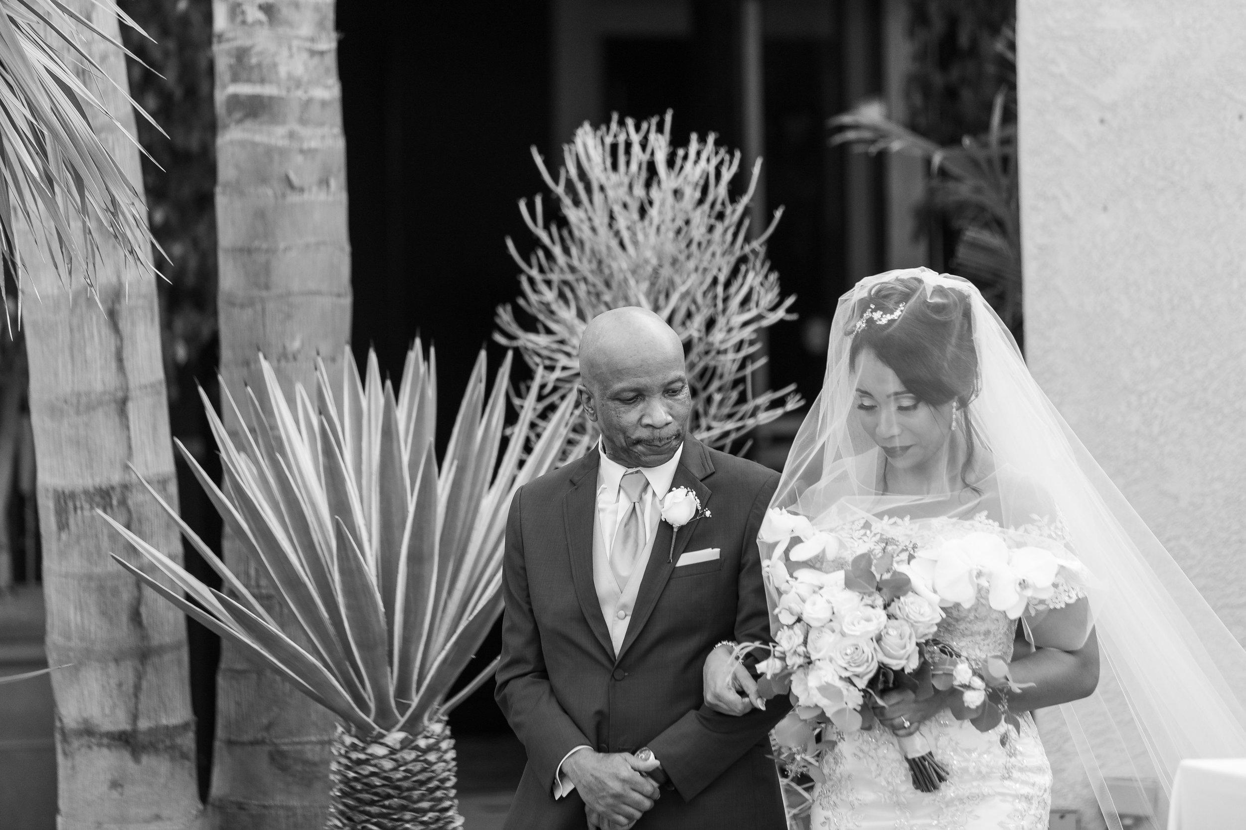 ! Father walking bride down the aisle The Long Beach Grand Wedding.jpg