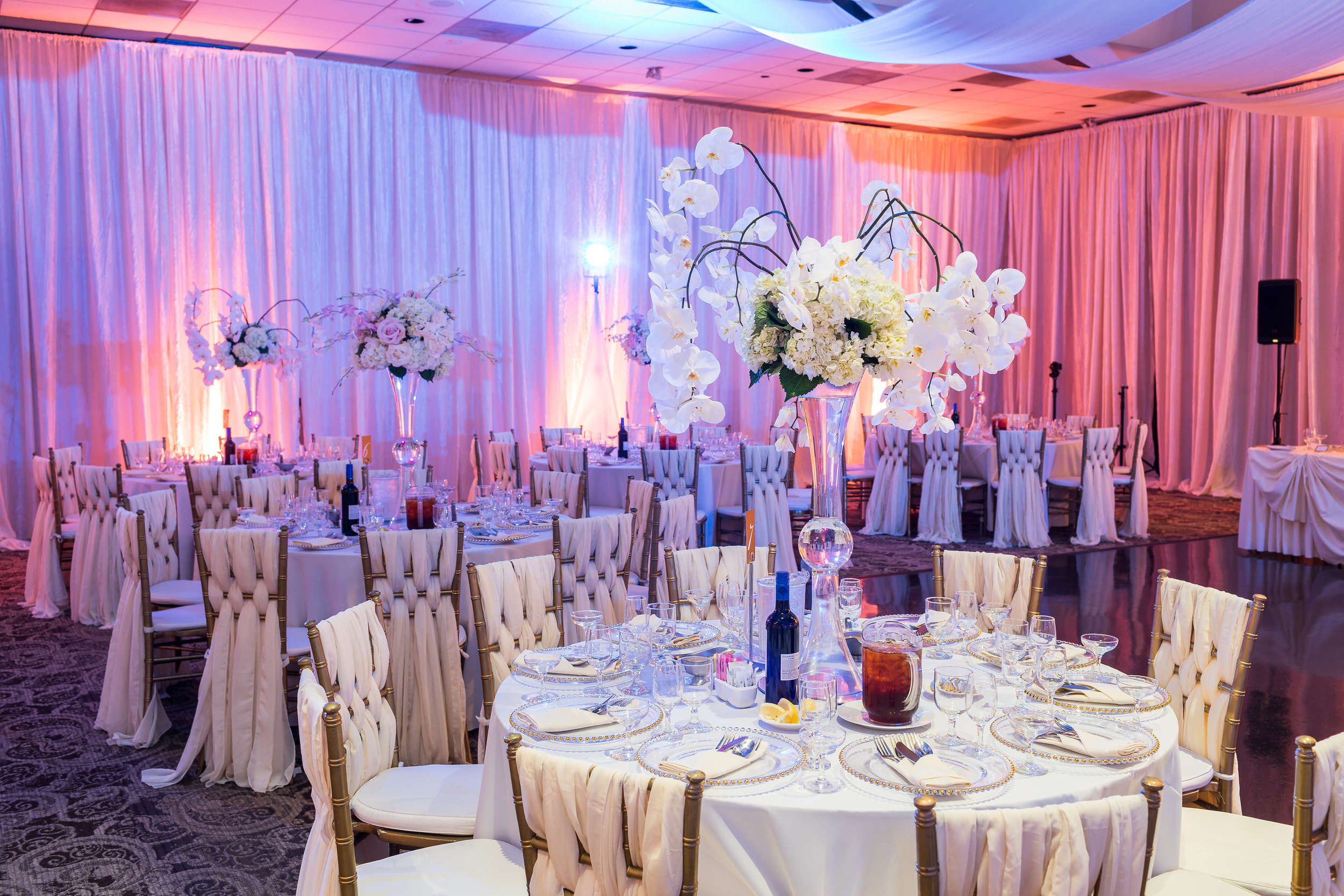 ! Glamorous Romantic Wedding Reception with White Drapery.jpg