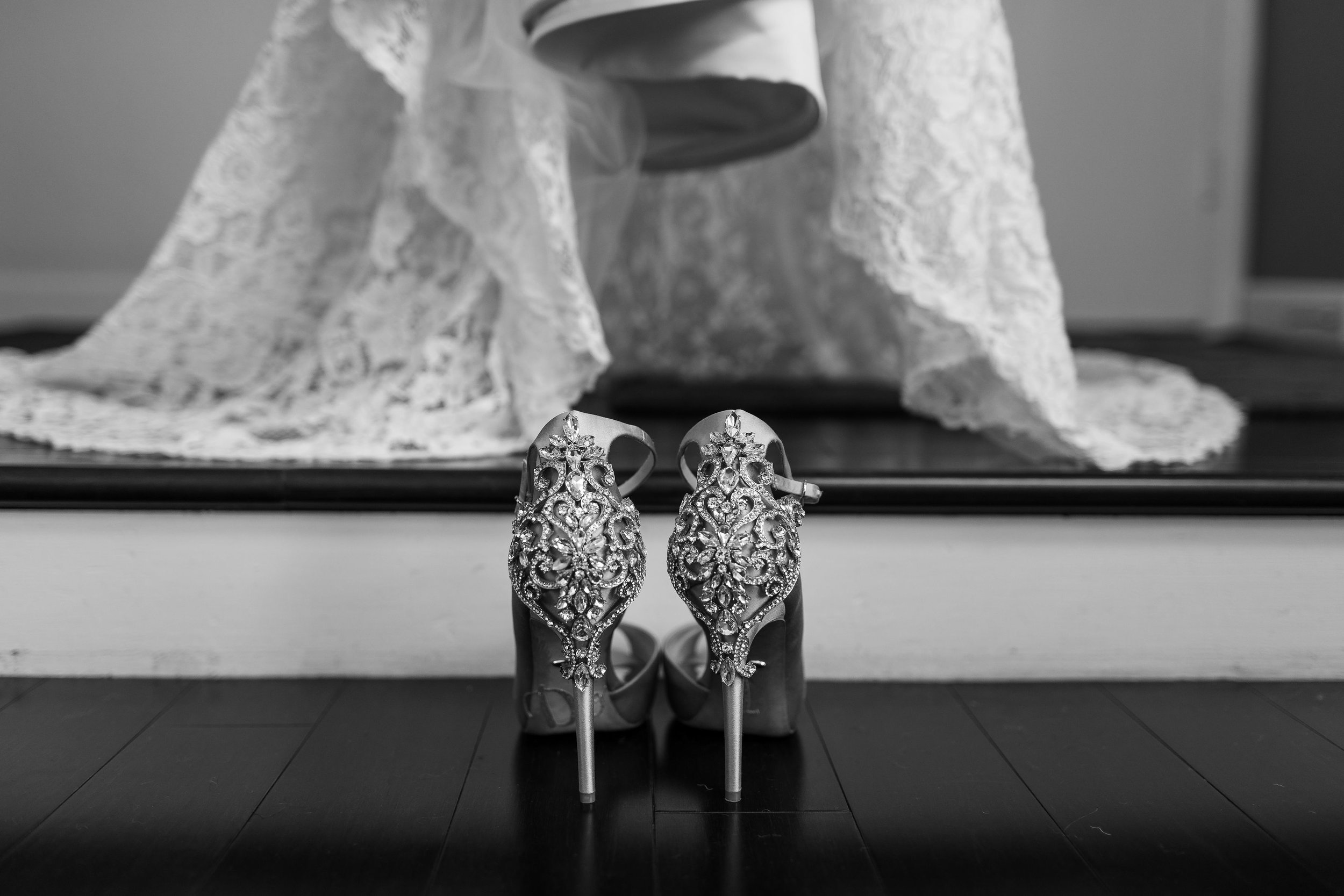 !Wedding Shoes next to wedding dress Long Beach photographer.jpg
