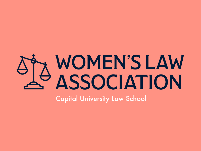 Logo redesign for a women's organization at Capital University Law School in Ohio.