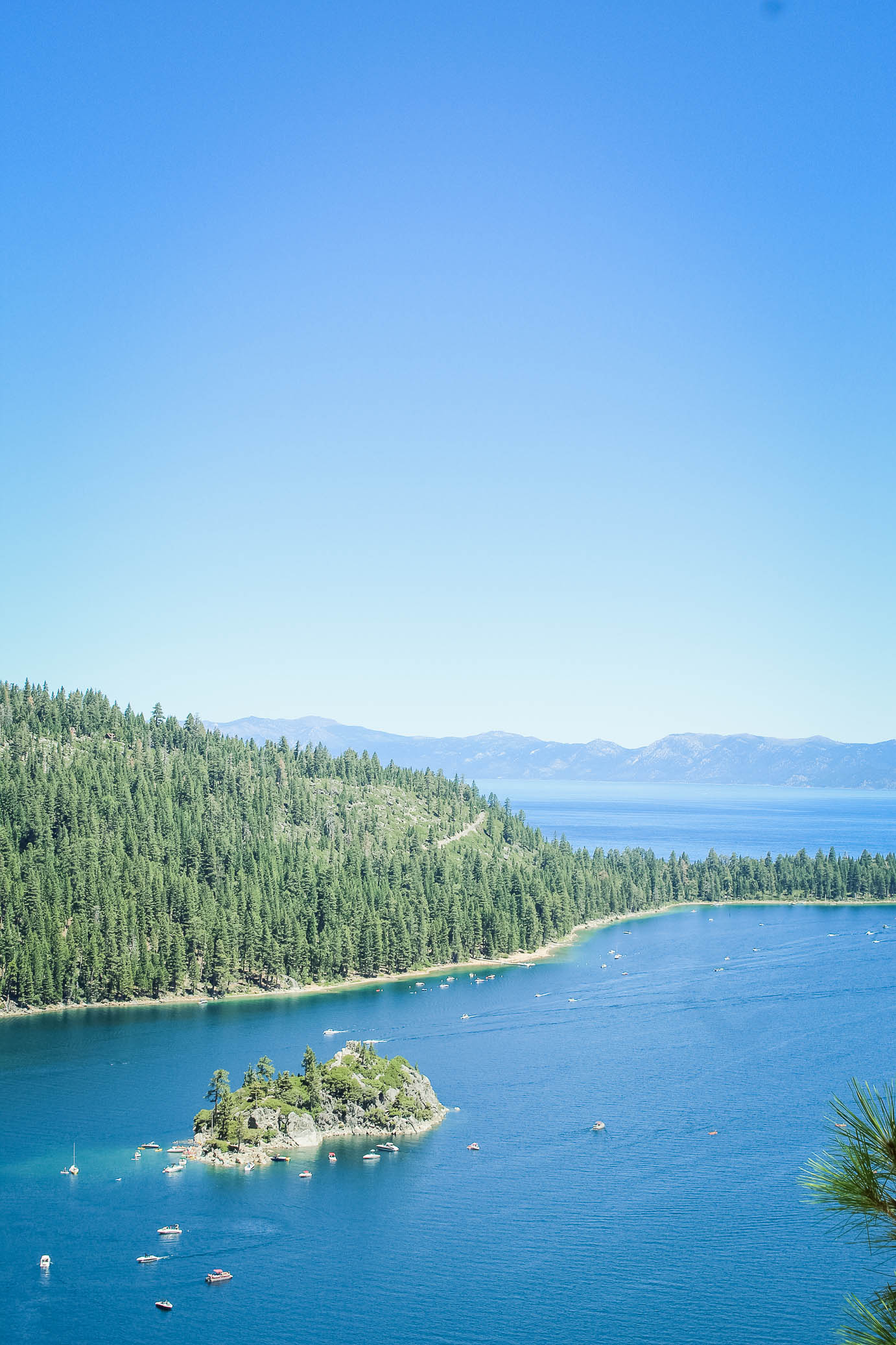 view of emerald bay, lake tahoe
