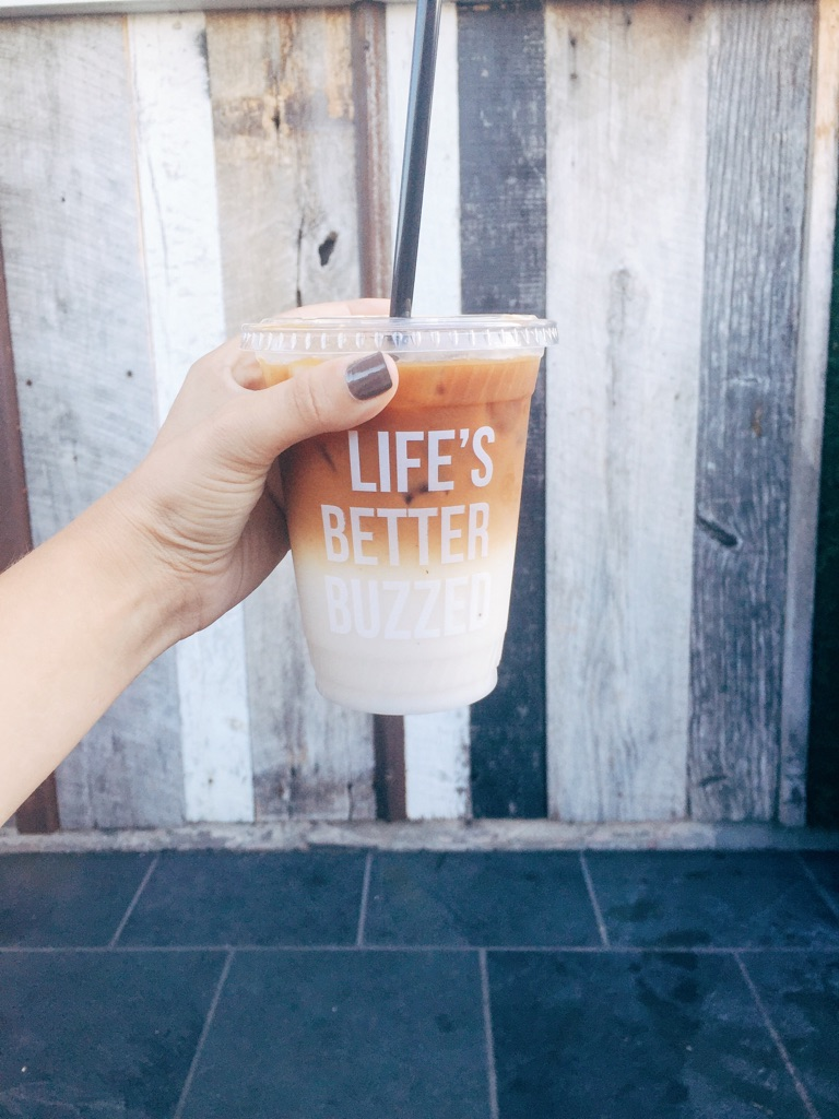 iced horchata latte from Better Buzzed coffee shop in Point Loma, San Diego | photo by Alex Hood for Tinted Green
