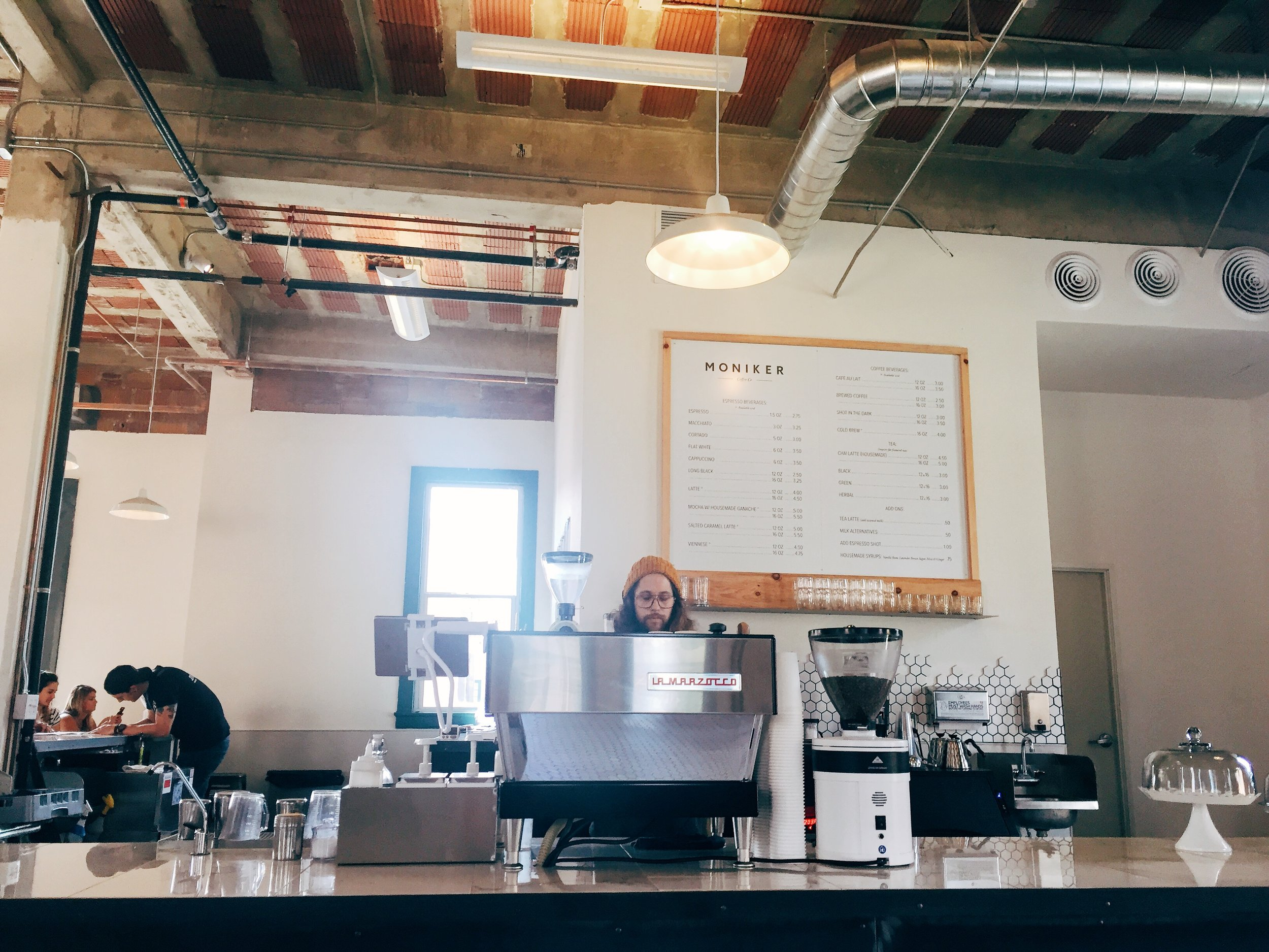 coffee bar at Moniker General in Liberty Station, San Diego