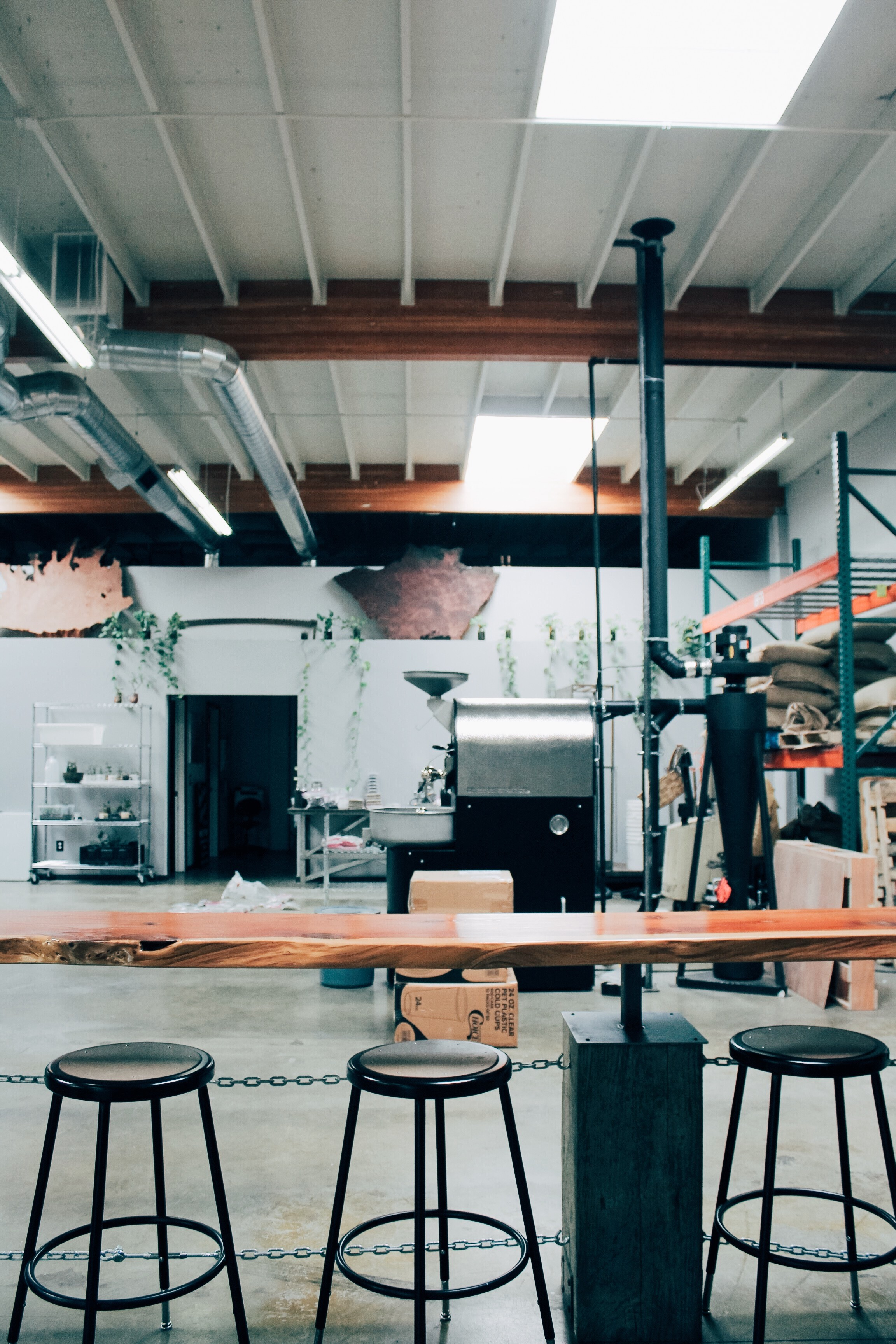 The interior of Identity Coffees in Sacramento, CA. A cool, hipster, specialty coffee shop to visit. | tintedgreen