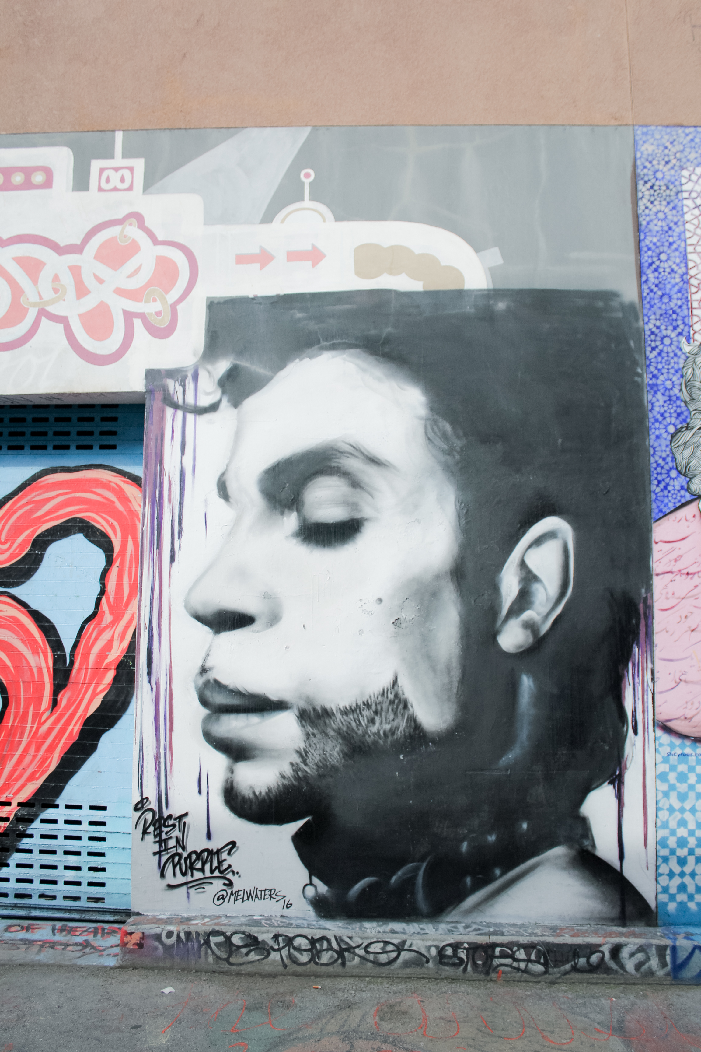Mel Waters mural of Prince in Clarion Alley, Mission District, San Francisco | tintedgreen
