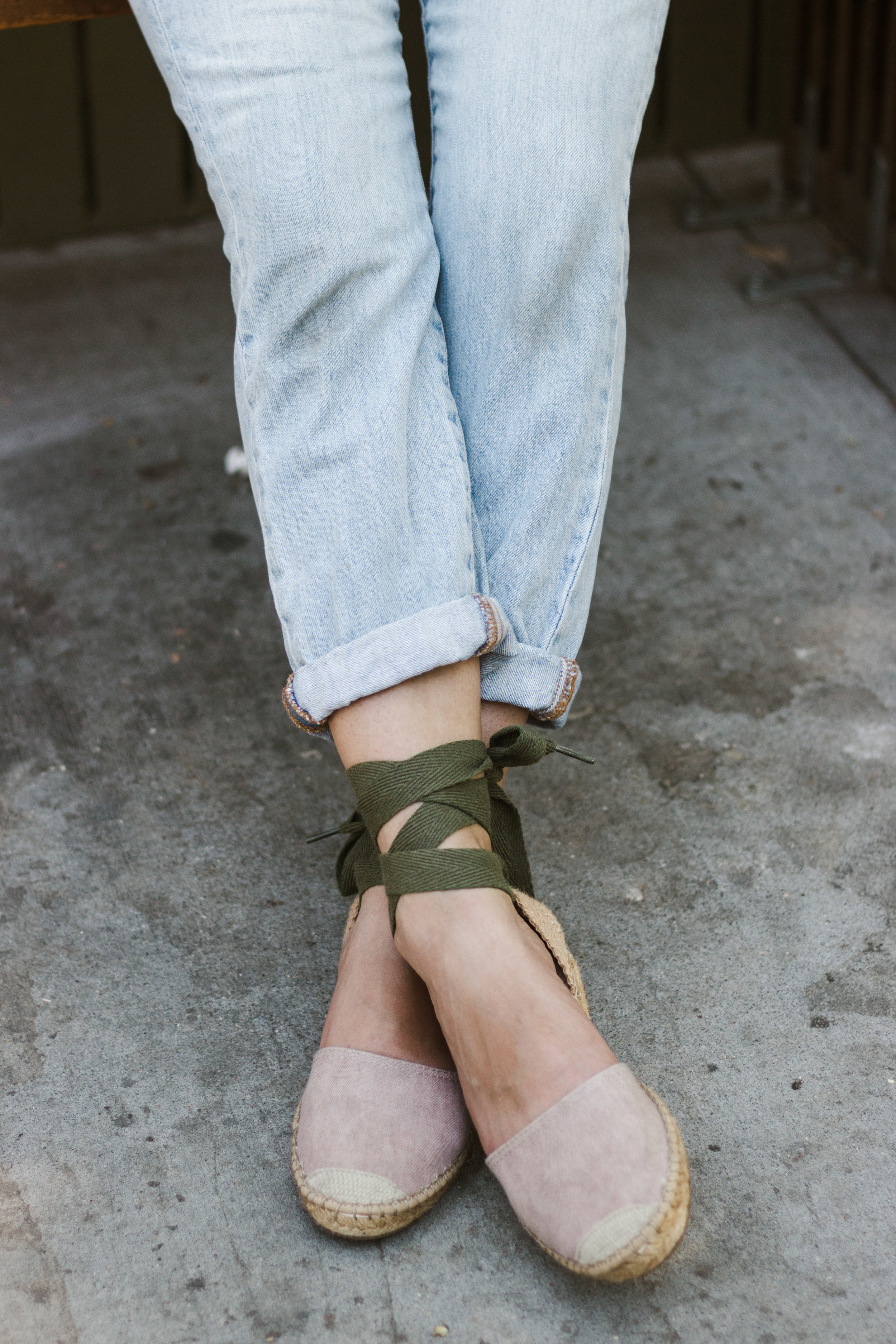 tie up espadrille flats from avarcas USA / a perfectly comfortable and adorable summer shoe