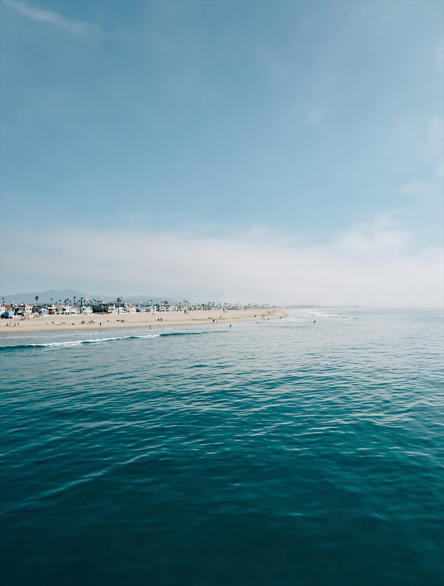 view of newport beach, californa from the pier
