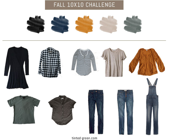 fall 2018 10x10 challenge, 10 pieces 10 outfits, 10 items 10 ways, capsule wardrobe challenge, fall style, minimalist closet