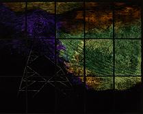 Big City (dark room) 2014- 2015 Intaglio, graphite and photoluminescent pigment on paper.